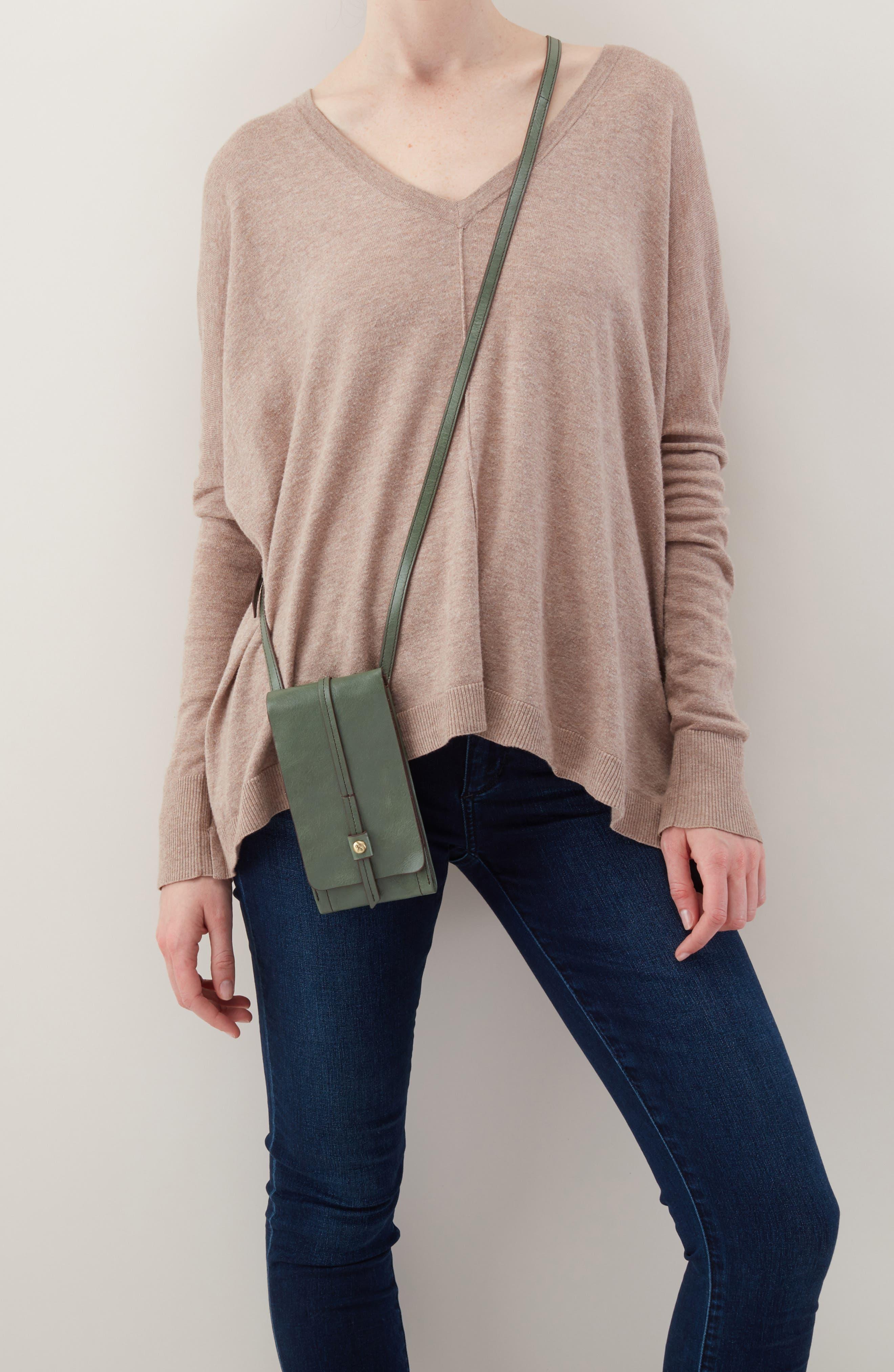 Token Smartphone Crossbody Bag,                             Alternate thumbnail 2, color,                             Moss