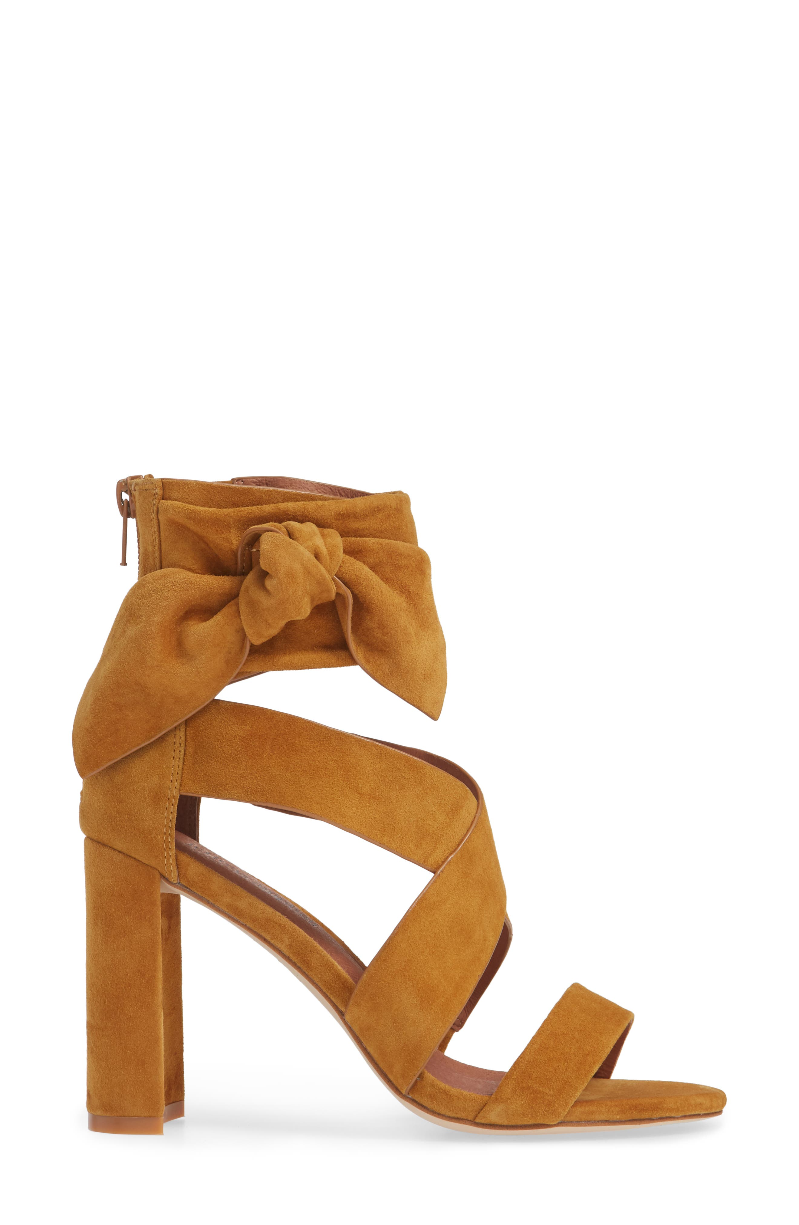 Despoina Sandal,                             Alternate thumbnail 6, color,                             Mustard Suede Leather