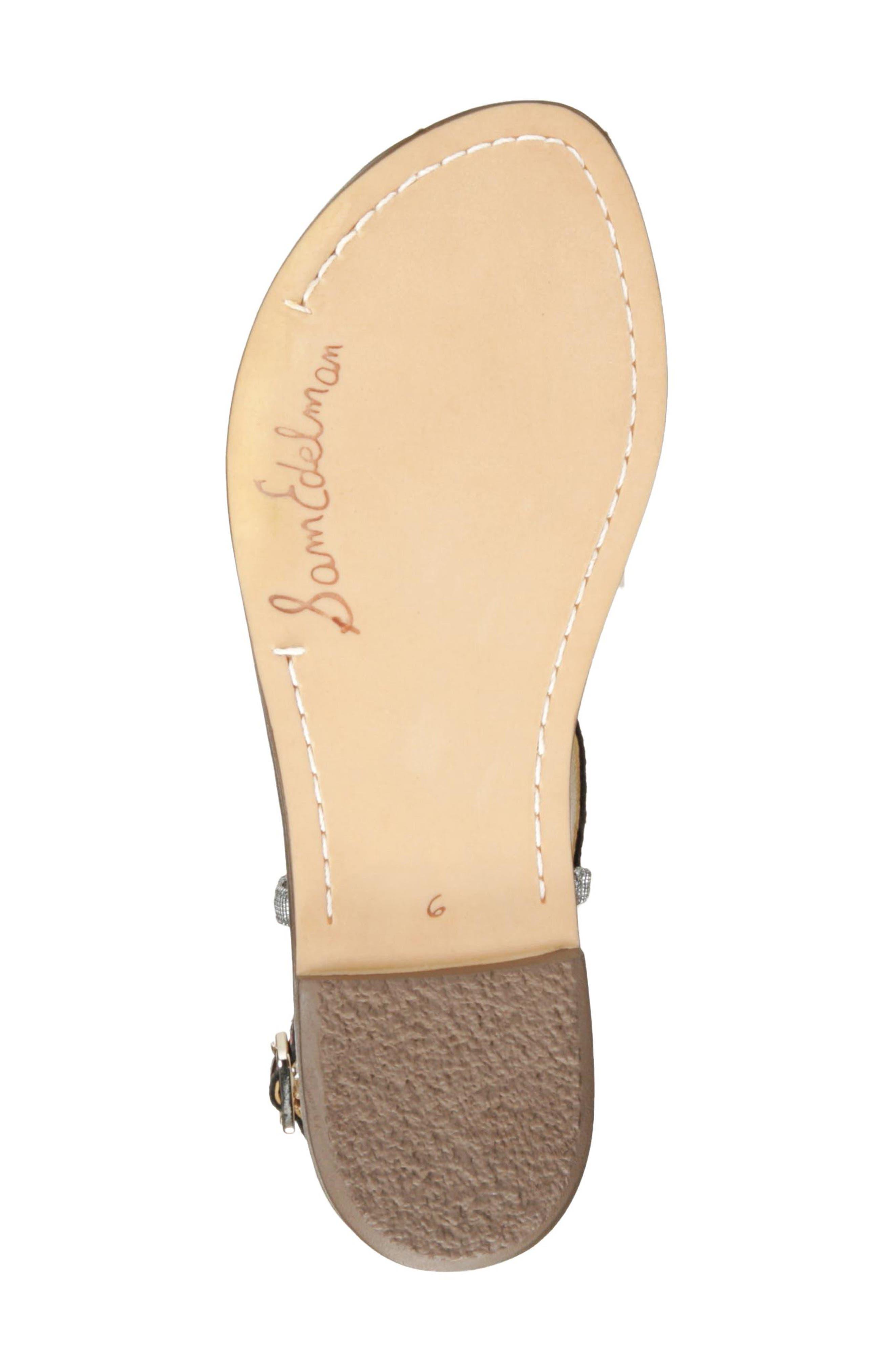 Gigi Genuine Calf Hair Sandal,                             Alternate thumbnail 4, color,                             Golden Yellow Multi