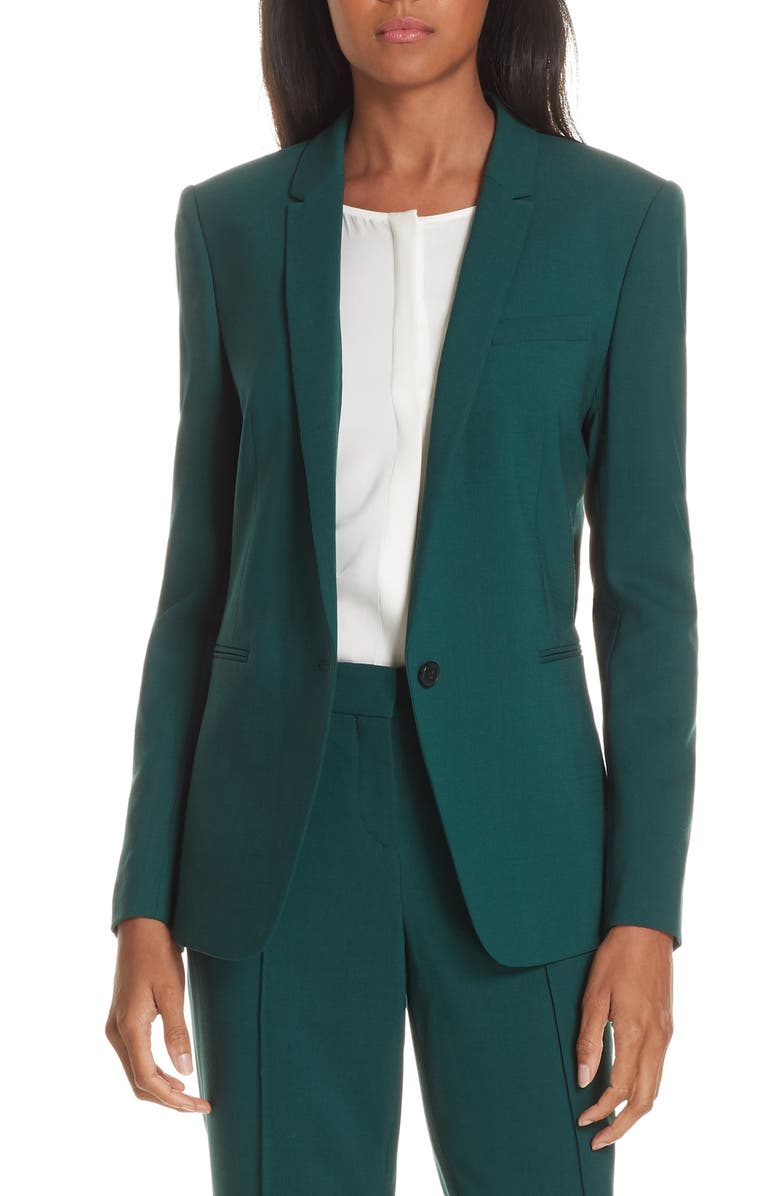 Janufa Stretch Wool Suit Jacket