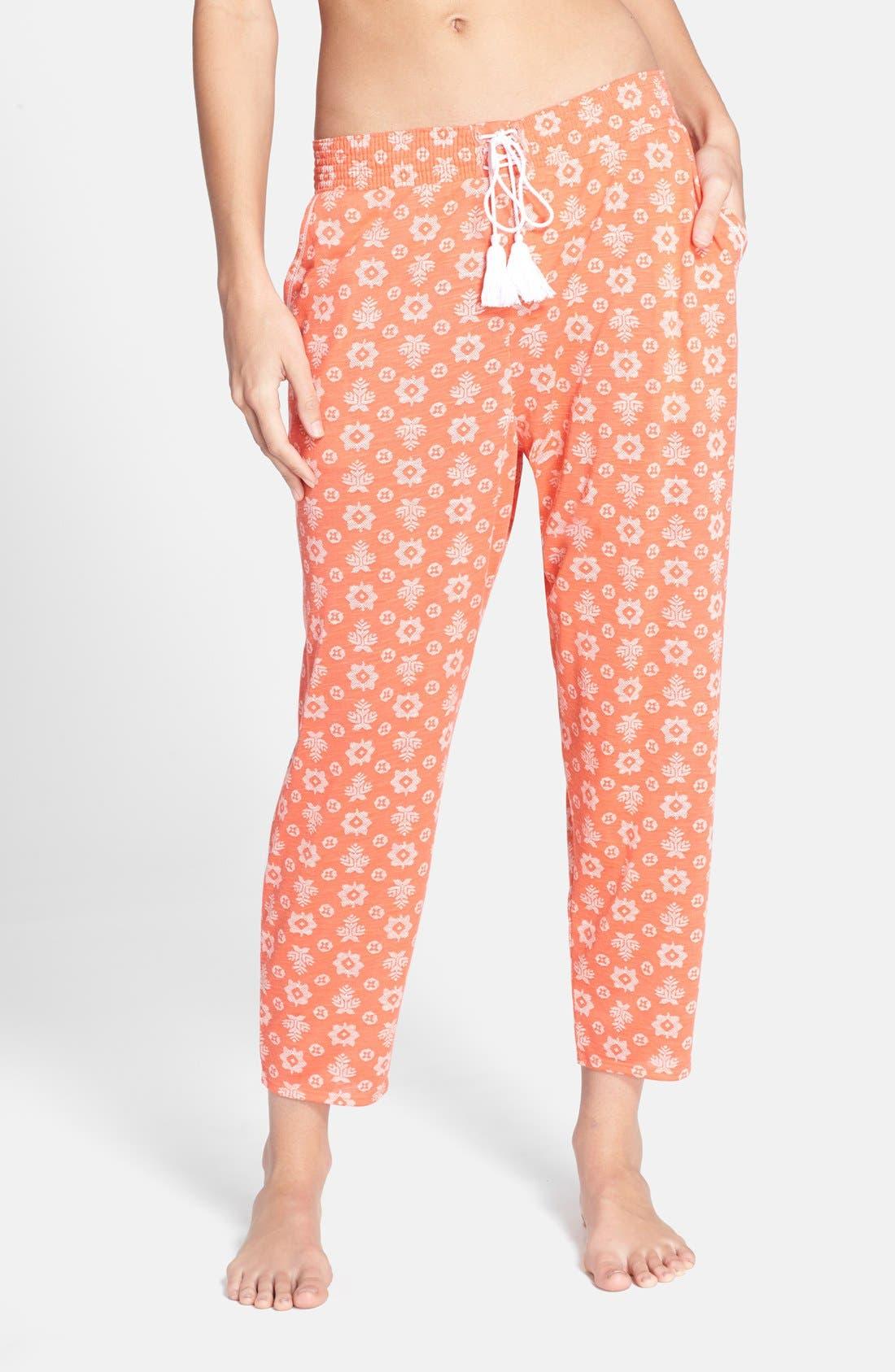 Alternate Image 1 Selected - kensie Print Crop Jersey Pajama Pants