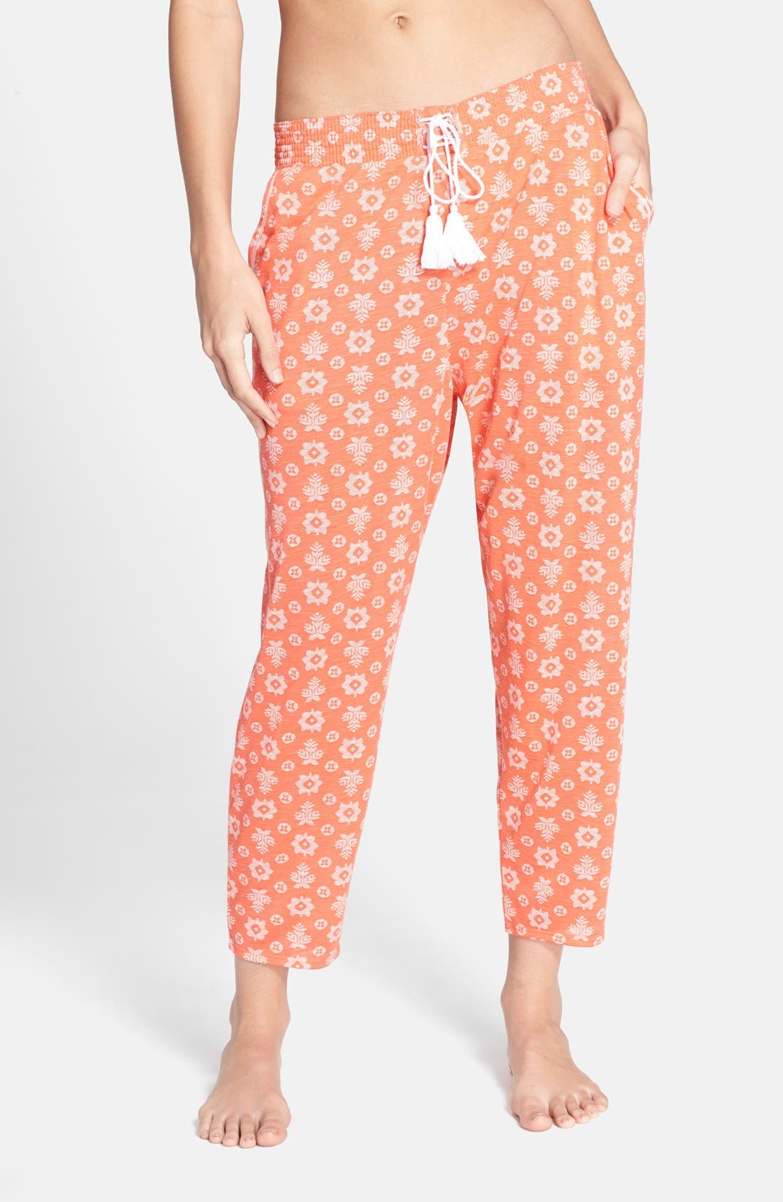 Main Image - kensie Print Crop Jersey Pajama Pants