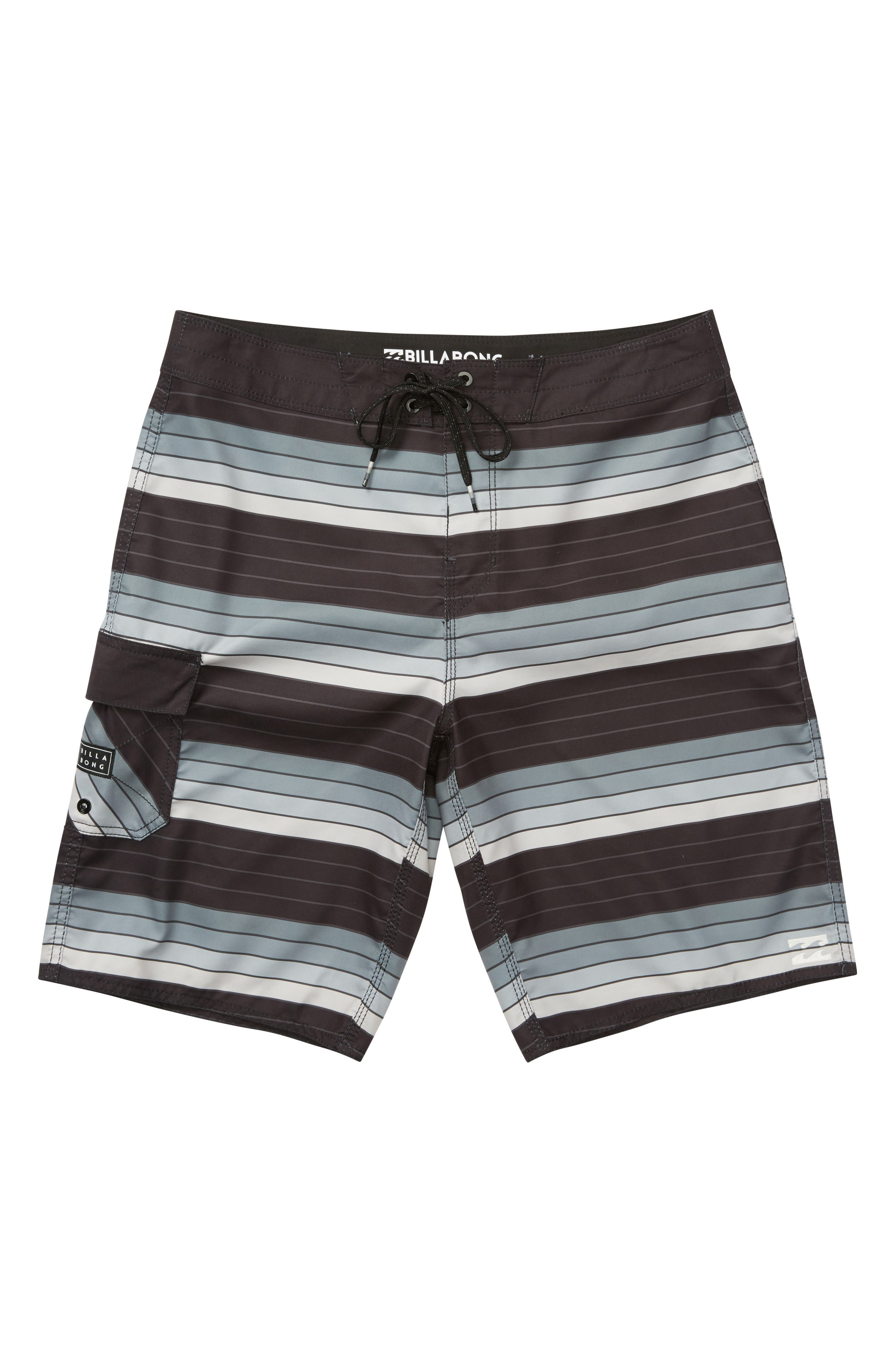 All Day OG Stripe Board Shorts,                         Main,                         color, Silver