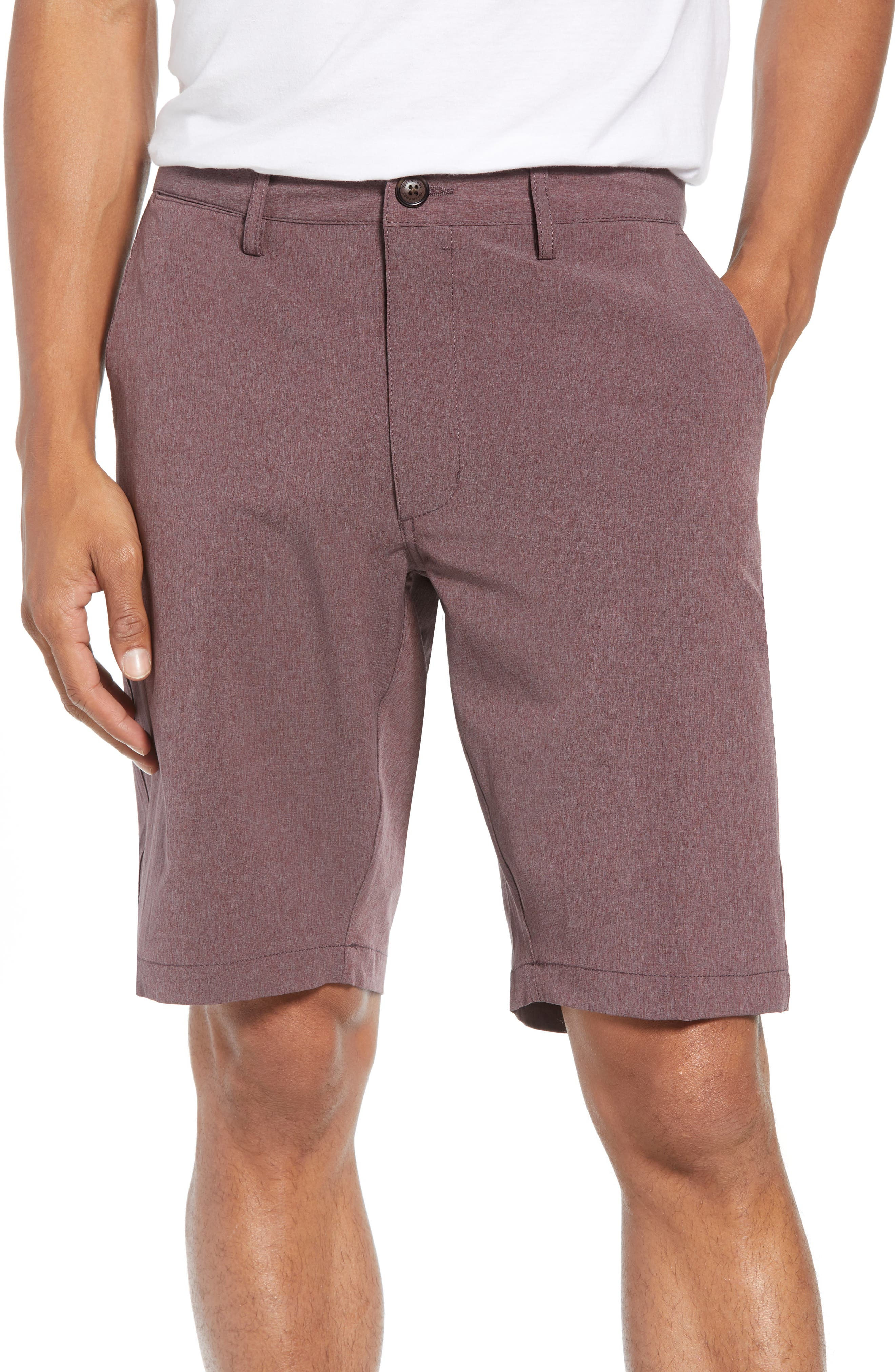 Adrenaline Stretch Shorts,                         Main,                         color, Berry