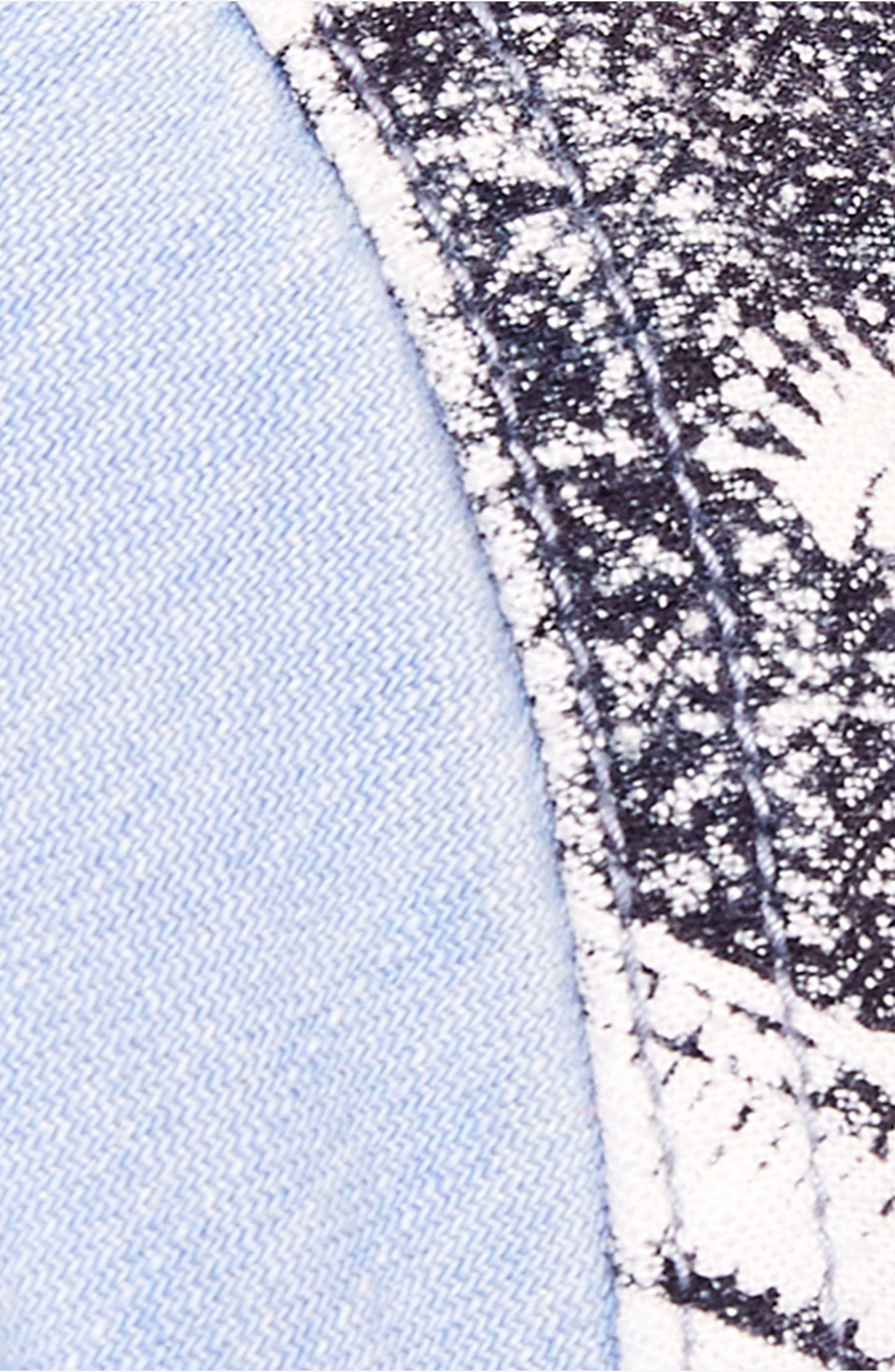 Meet Me in Marfa Western Shirt,                             Alternate thumbnail 3, color,                             Blue