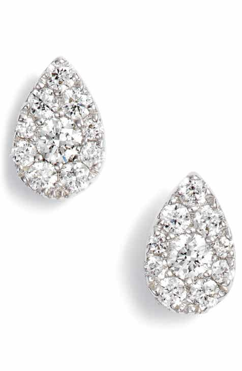 Bony Levy Diamond Pavé Pear Stud Earrings Nordstrom Exclusive