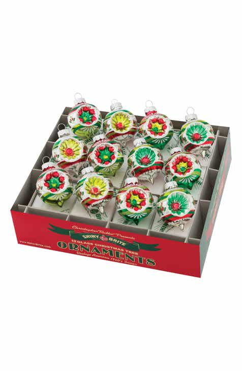 christopher radko holiday splendor set of 12 glass ornaments