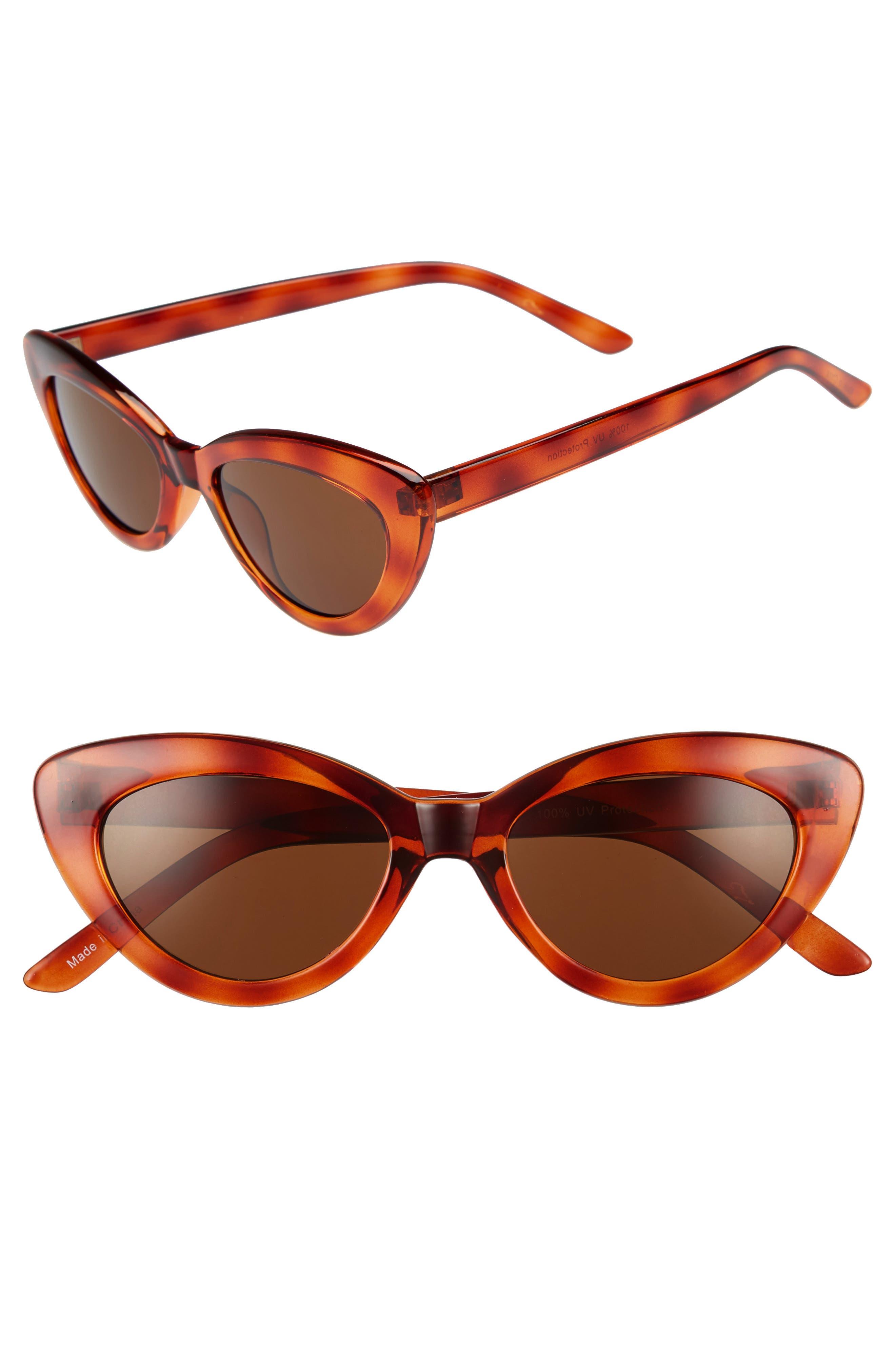 51mm Cat Eye Sunglasses,                         Main,                         color, Tort