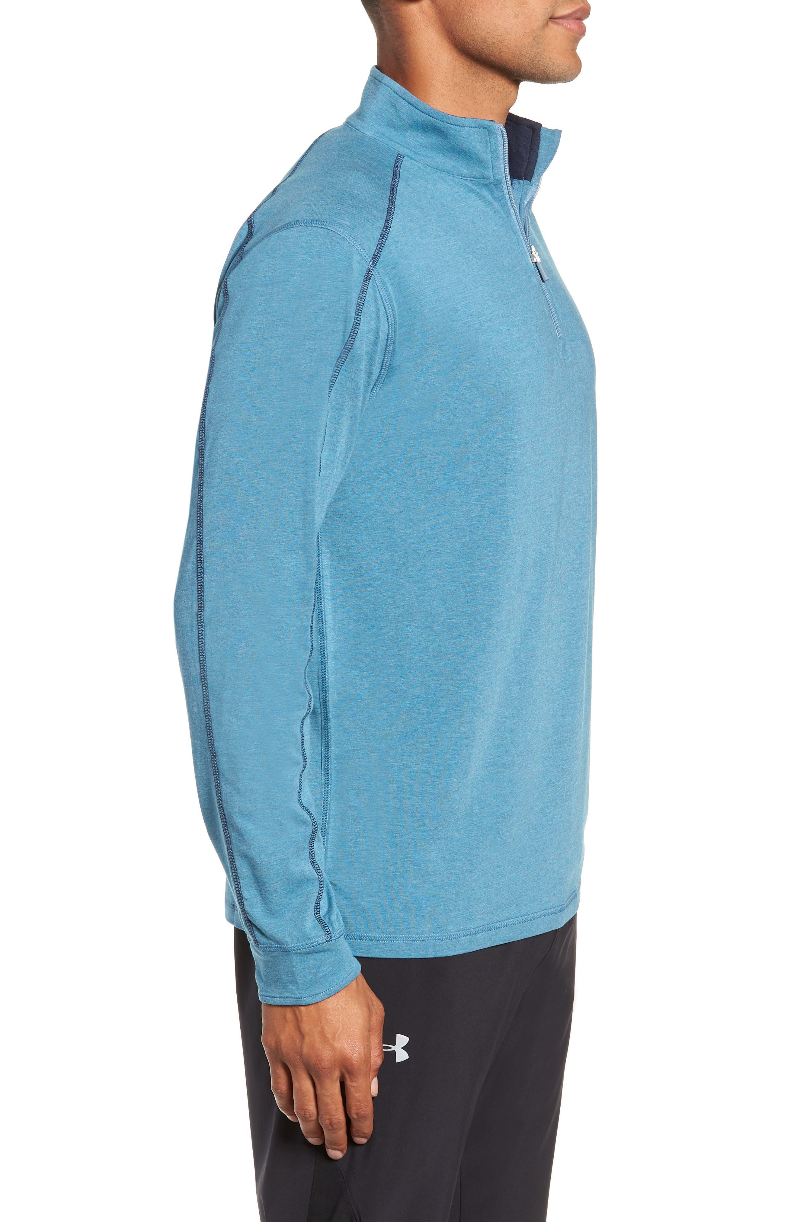 Carrollton Quarter Zip Sweatshirt,                             Alternate thumbnail 4, color,                             Tranquility Sea Heather