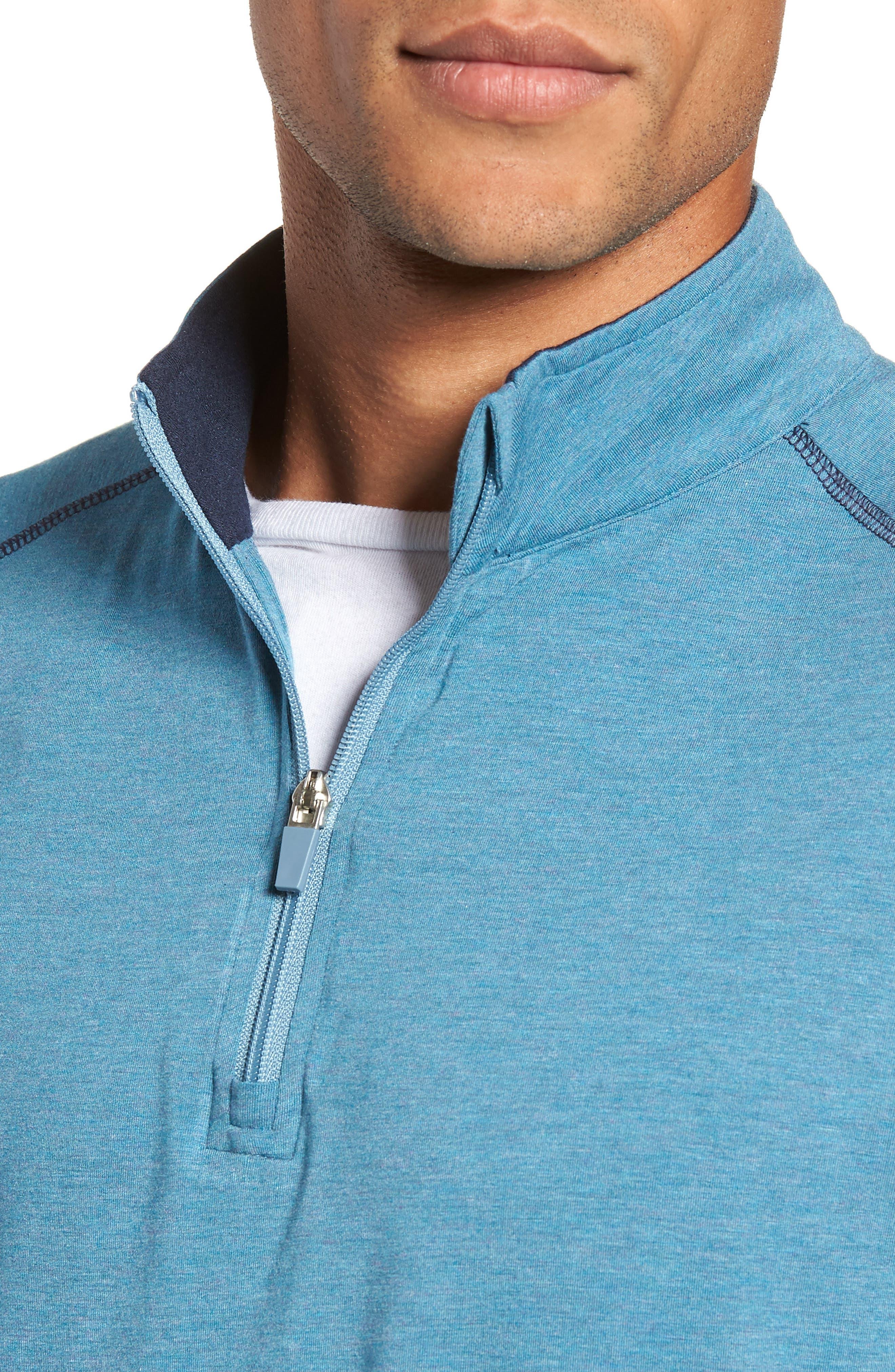 Carrollton Quarter Zip Sweatshirt,                             Alternate thumbnail 5, color,                             Tranquility Sea Heather