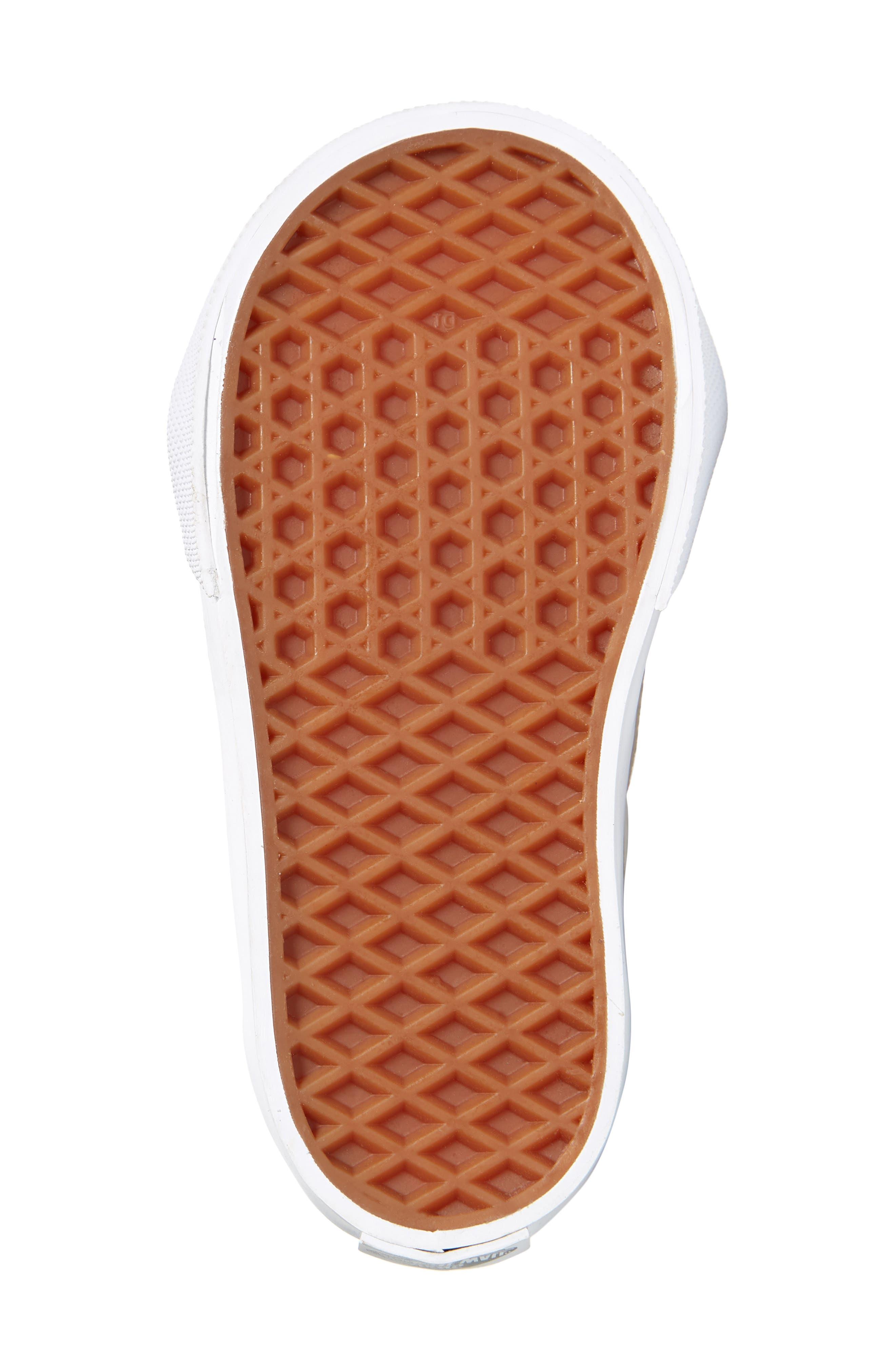 Sk8-Hi Zip Sneaker,                             Alternate thumbnail 3, color,                             Lurex Glitter Pink/ True White