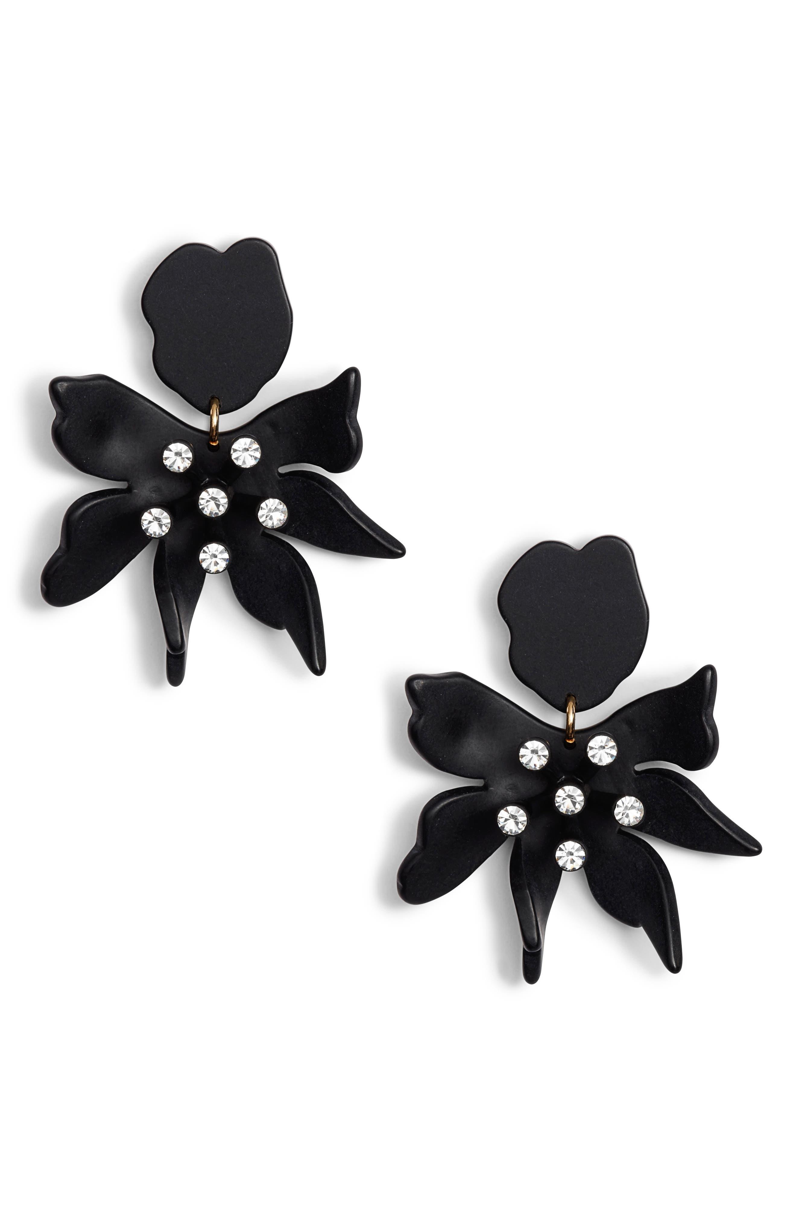 LELE SADOUGHI Daffodil Clip Drop Earrings in Jet