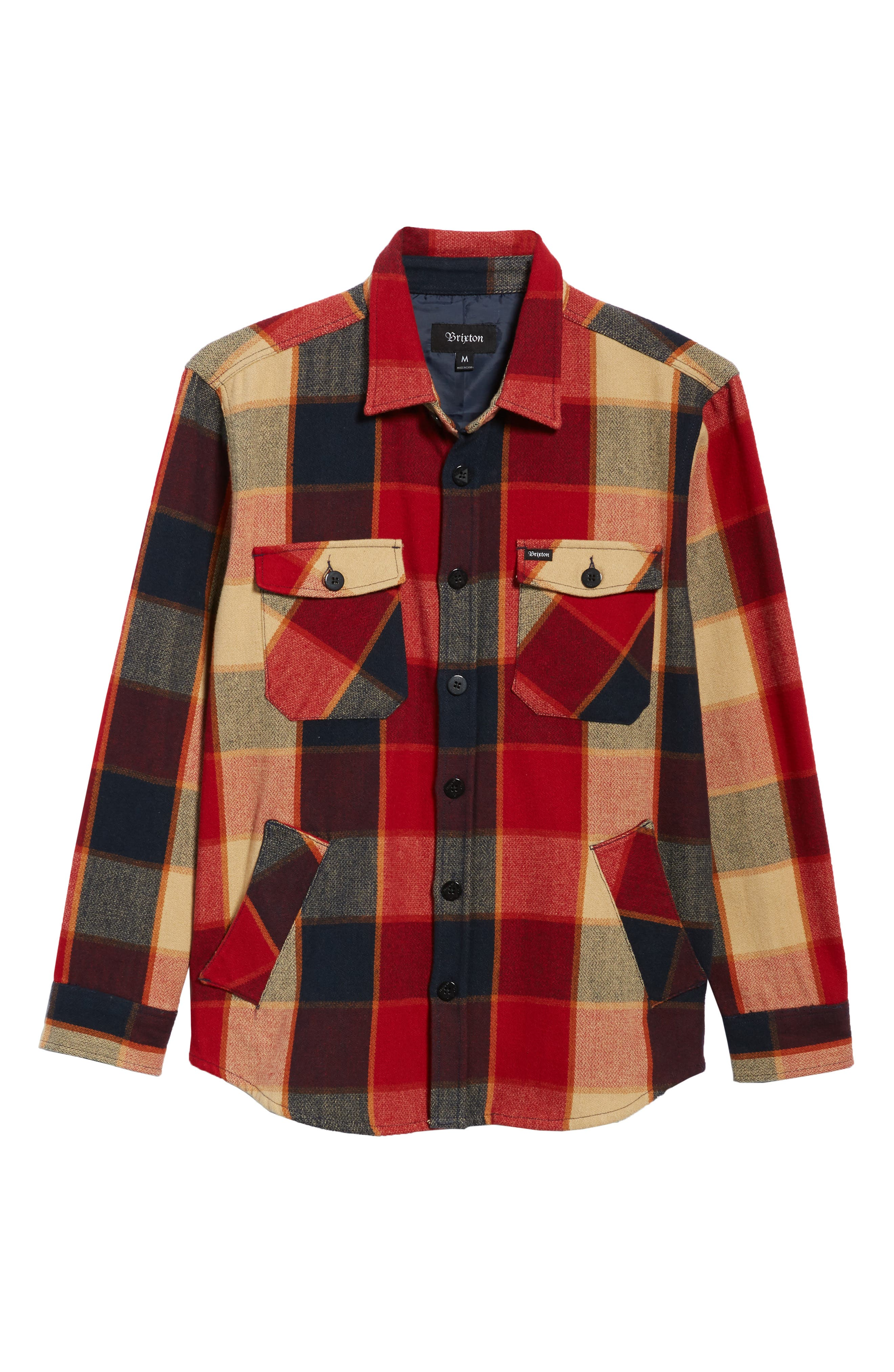 Durham Flannel Shirt,                         Main,                         color, Red/ Navy