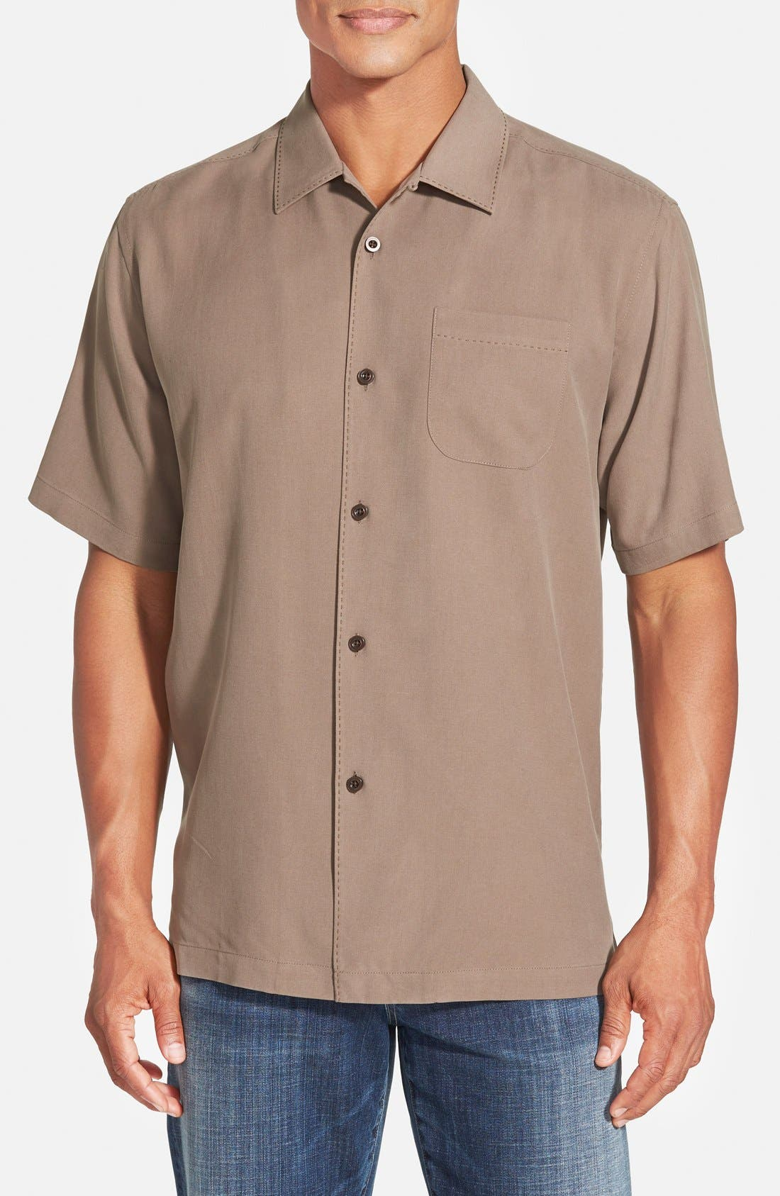 Alternate Image 1 Selected - Tommy Bahama 'Catalina Twill' Original Fit Silk Camp Shirt