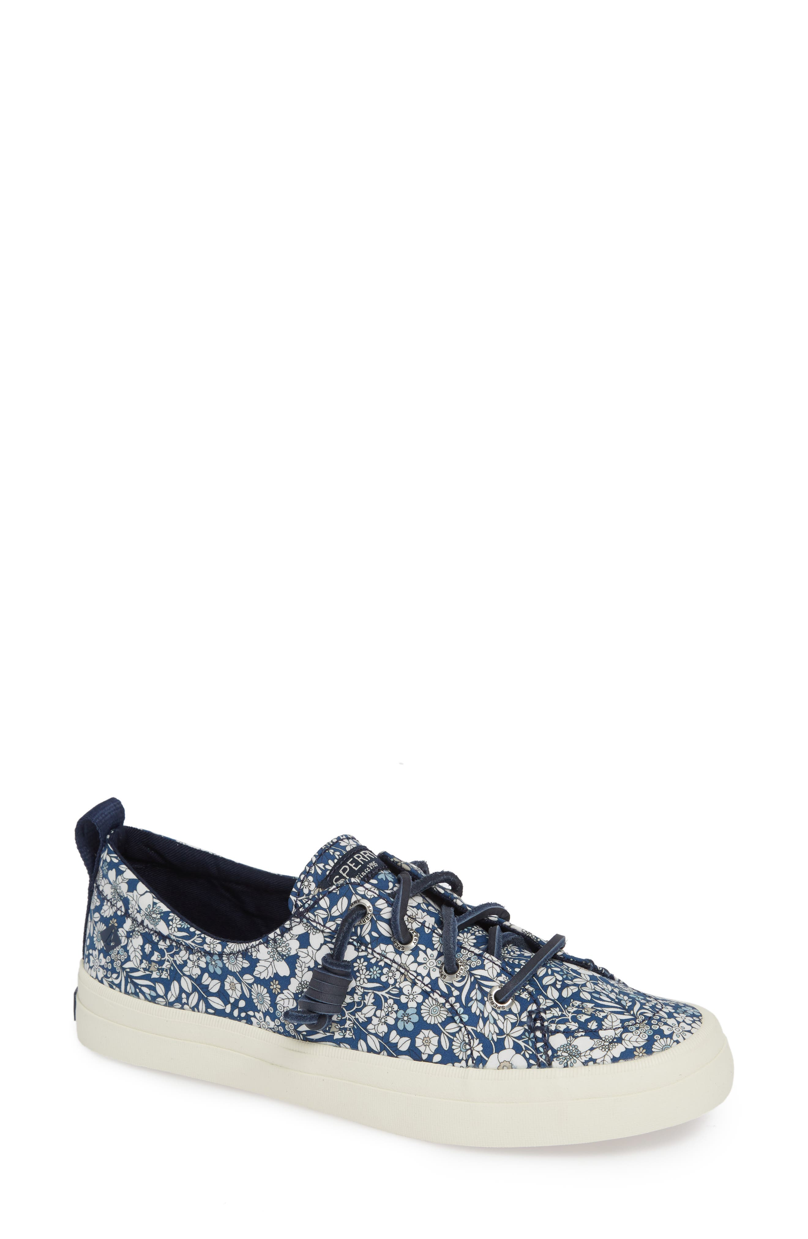 Crest Vibe Sneaker,                         Main,                         color, Navy/ Multi Canvas