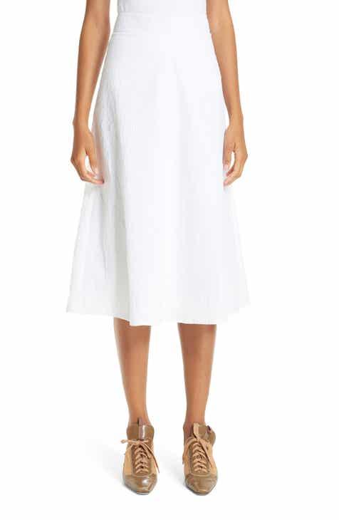 Sies Marjan Ala Crinkled Poplin A-Line Skirt by SIES MARJAN