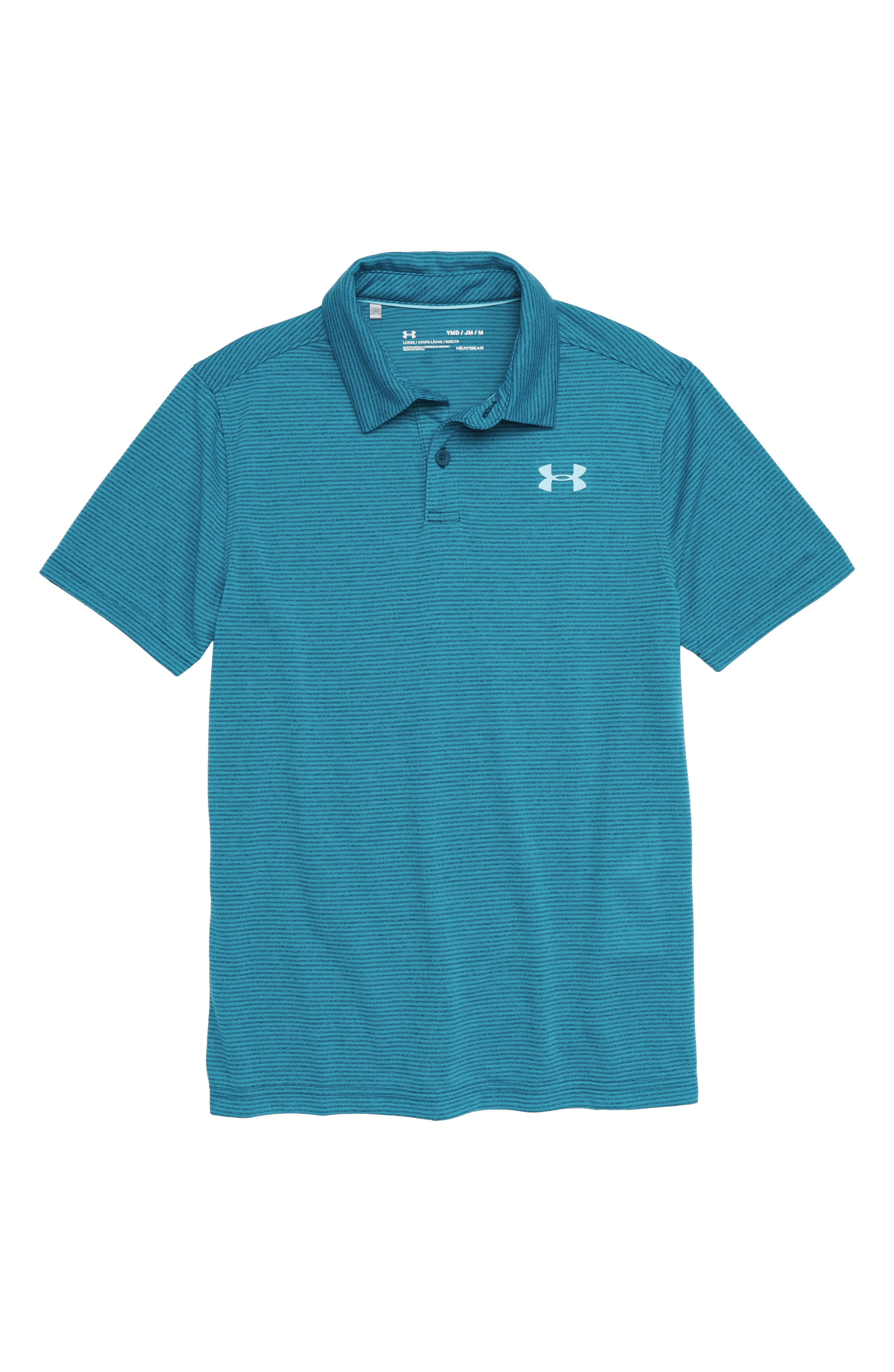 Threadborne Polo,                             Main thumbnail 1, color,                             Techno Teal/ Venetian Blue