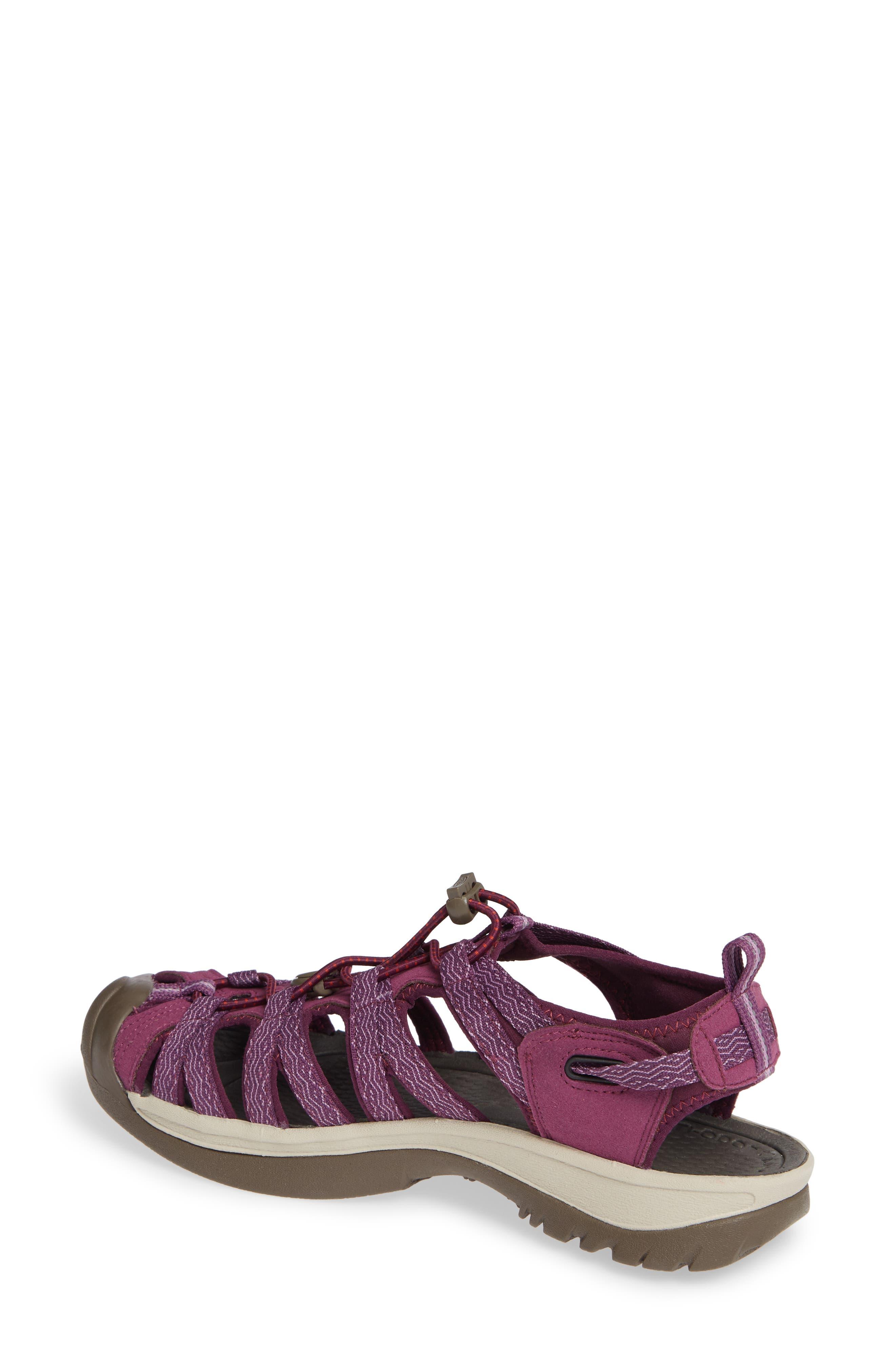 'Whisper' Water Friendly Sport Sandal,                             Alternate thumbnail 2, color,                             Grape Kiss/ Grape Wine