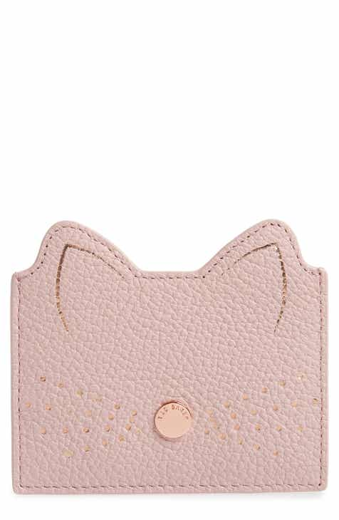 ted baker london anatoni cat ear card holder - Pink Card Holder