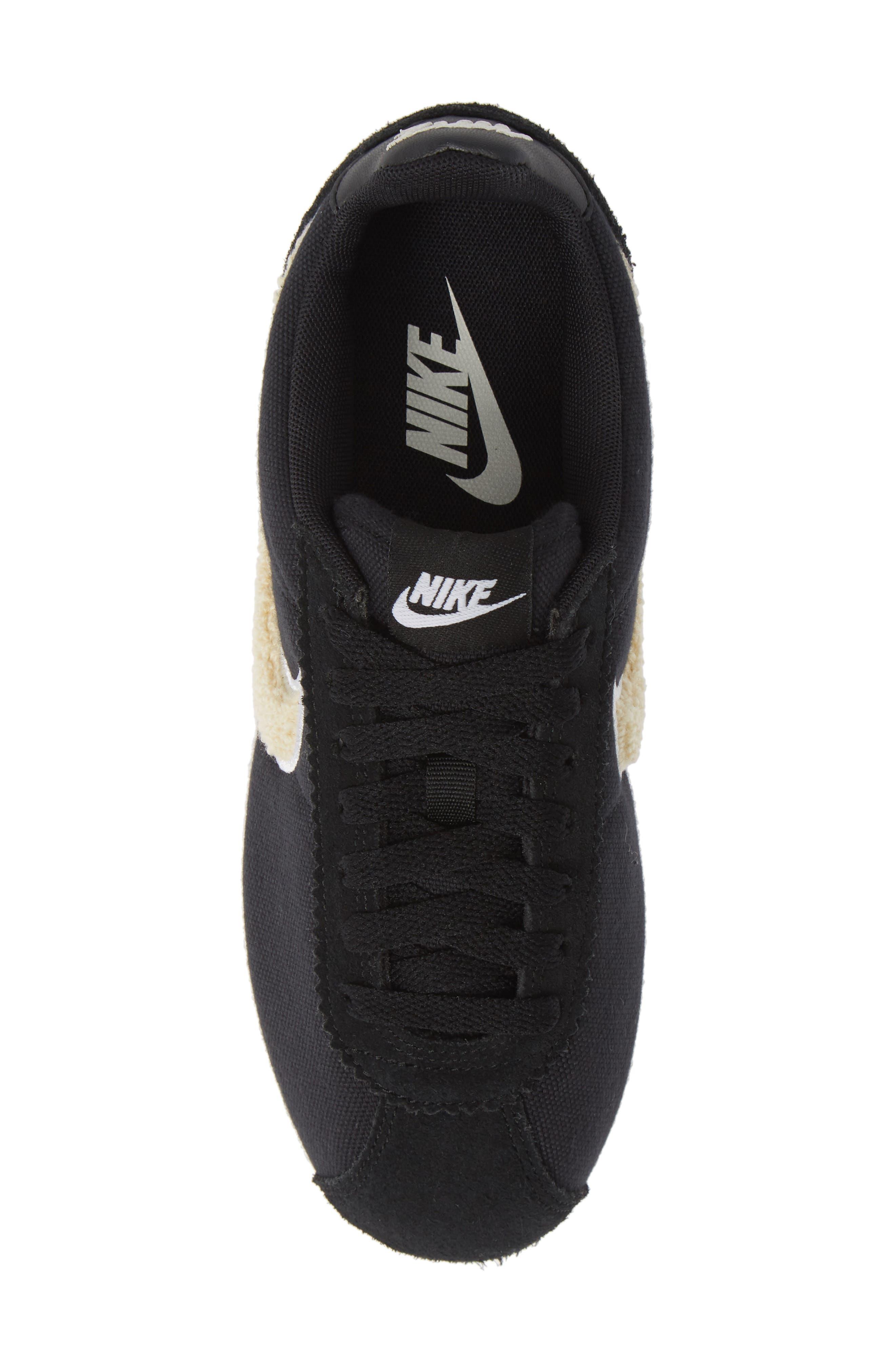 Classic Cortez Premium XLV Sneaker,                             Alternate thumbnail 3, color,                             Black/ Light Cream/ Brown