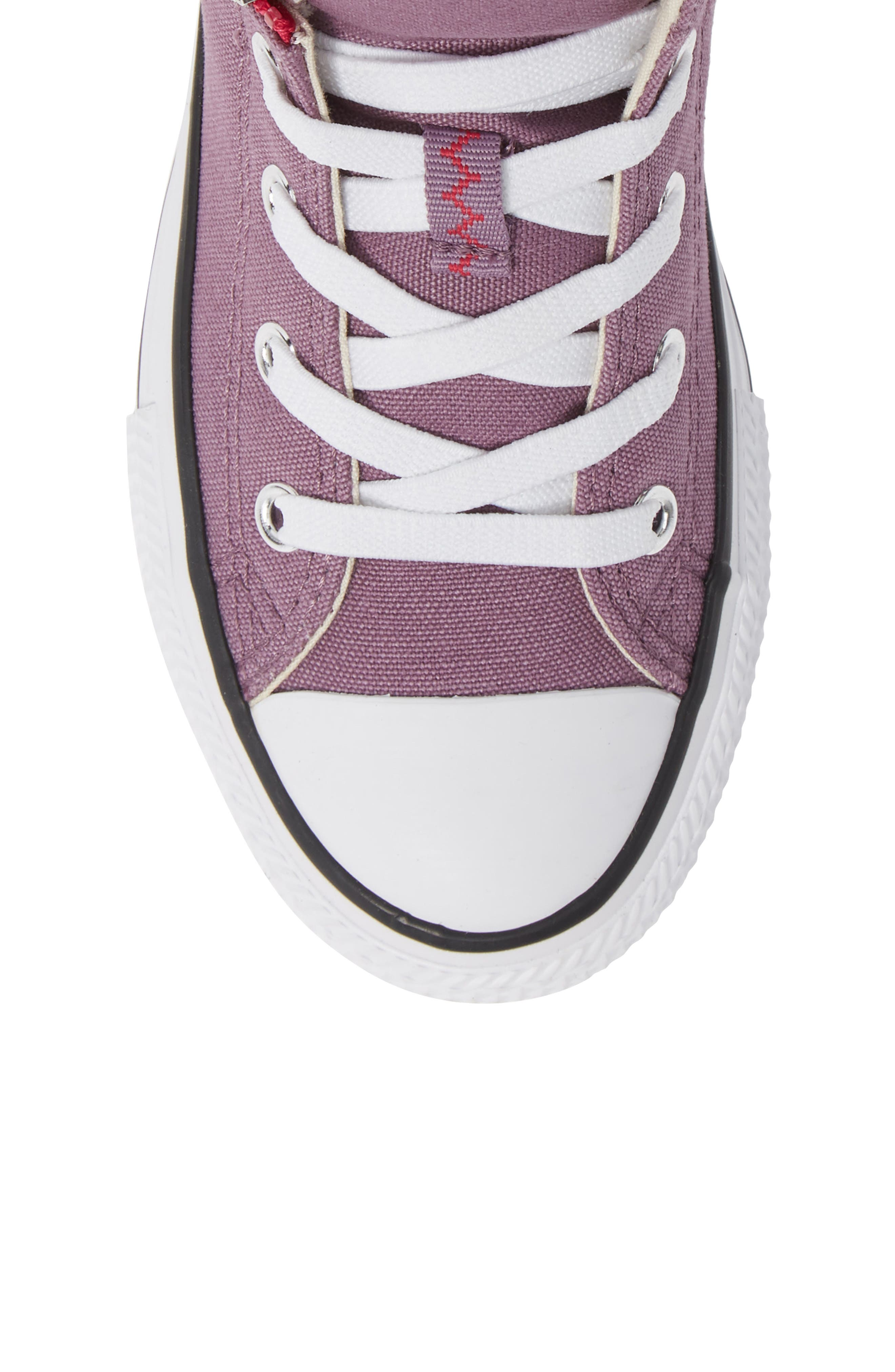 Chuck Taylor<sup>®</sup> All Star<sup>®</sup> Pull Zip High Top Sneaker,                             Alternate thumbnail 4, color,                             Violet Dust