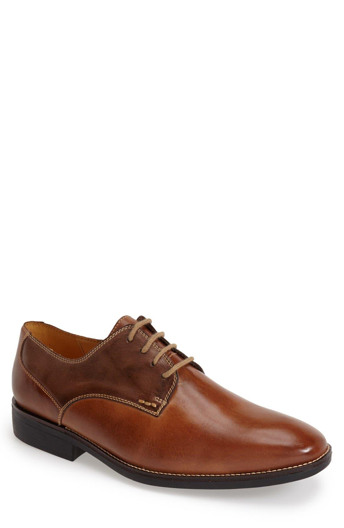 'Olsen' Plain Toe Derby,                             Main thumbnail 1, color,                             Brown