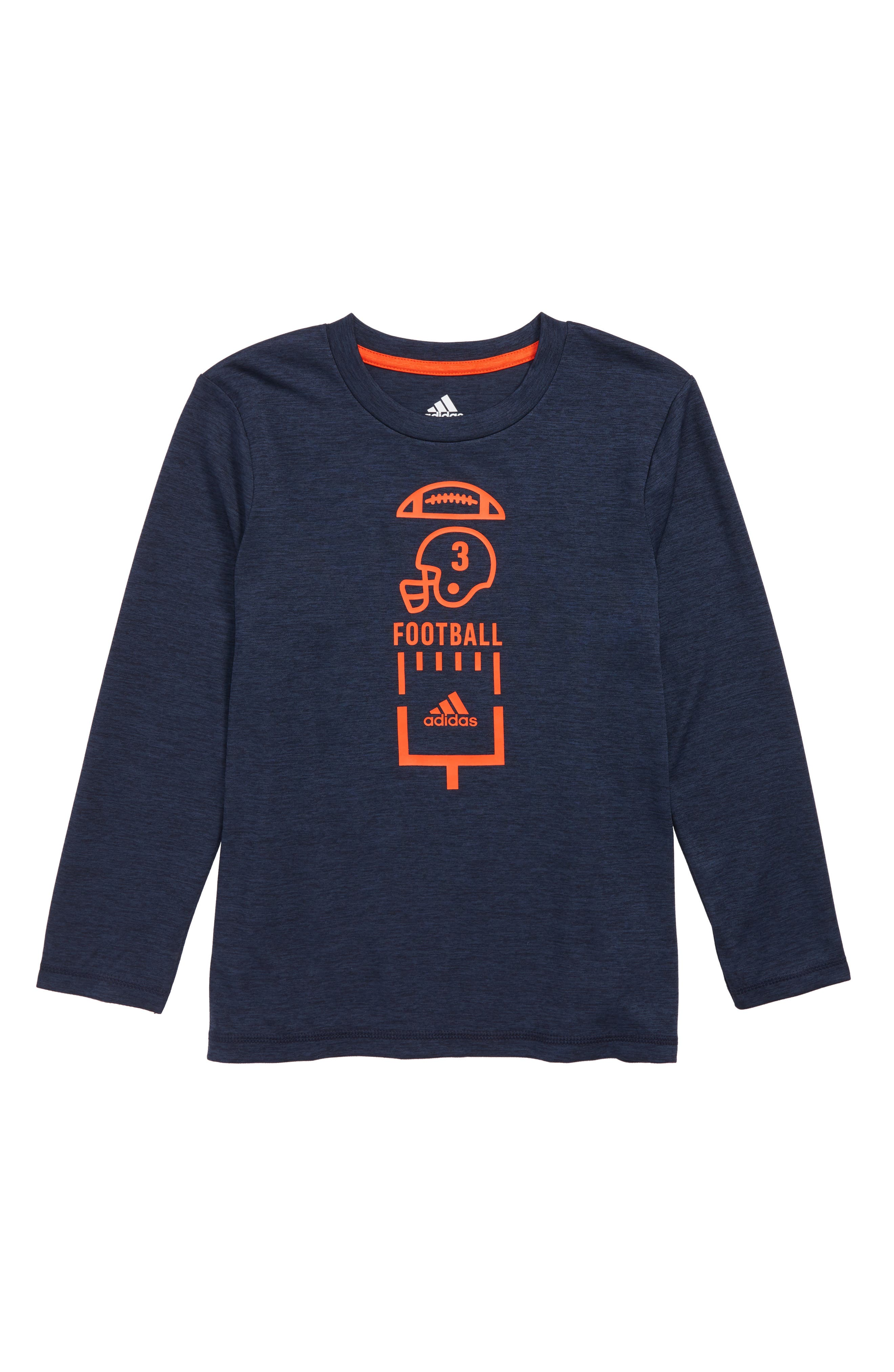 Football Vertical Collage T-Shirt,                         Main,                         color, Navy