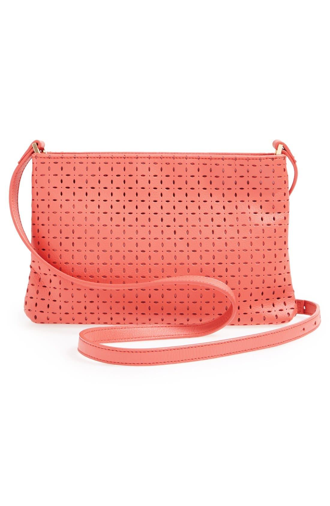 Alternate Image 3  - Halogen® Perforated Leather Crossbody Bag