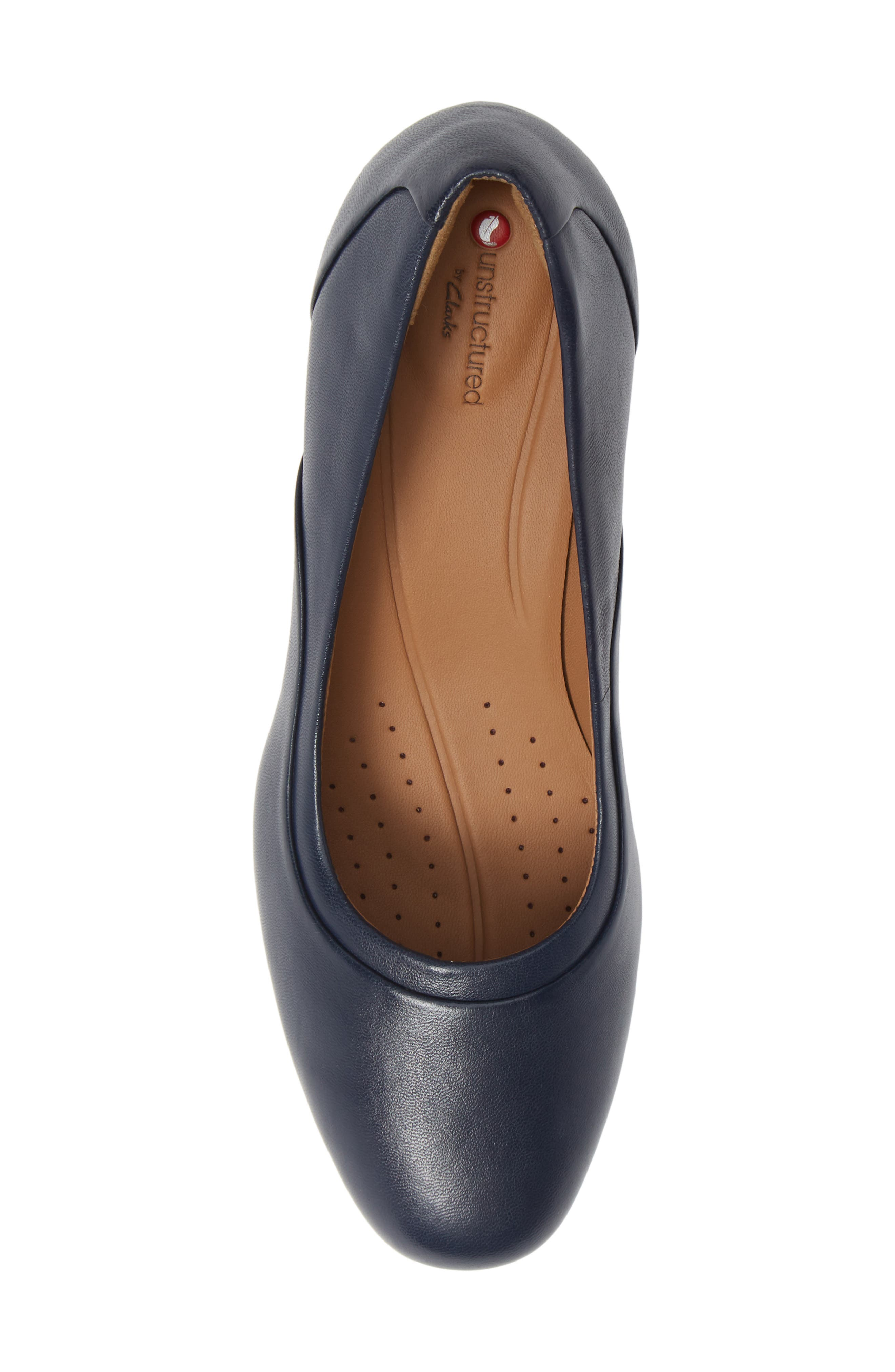 Un Cosmo Step Pump,                             Alternate thumbnail 5, color,                             Navy Leather