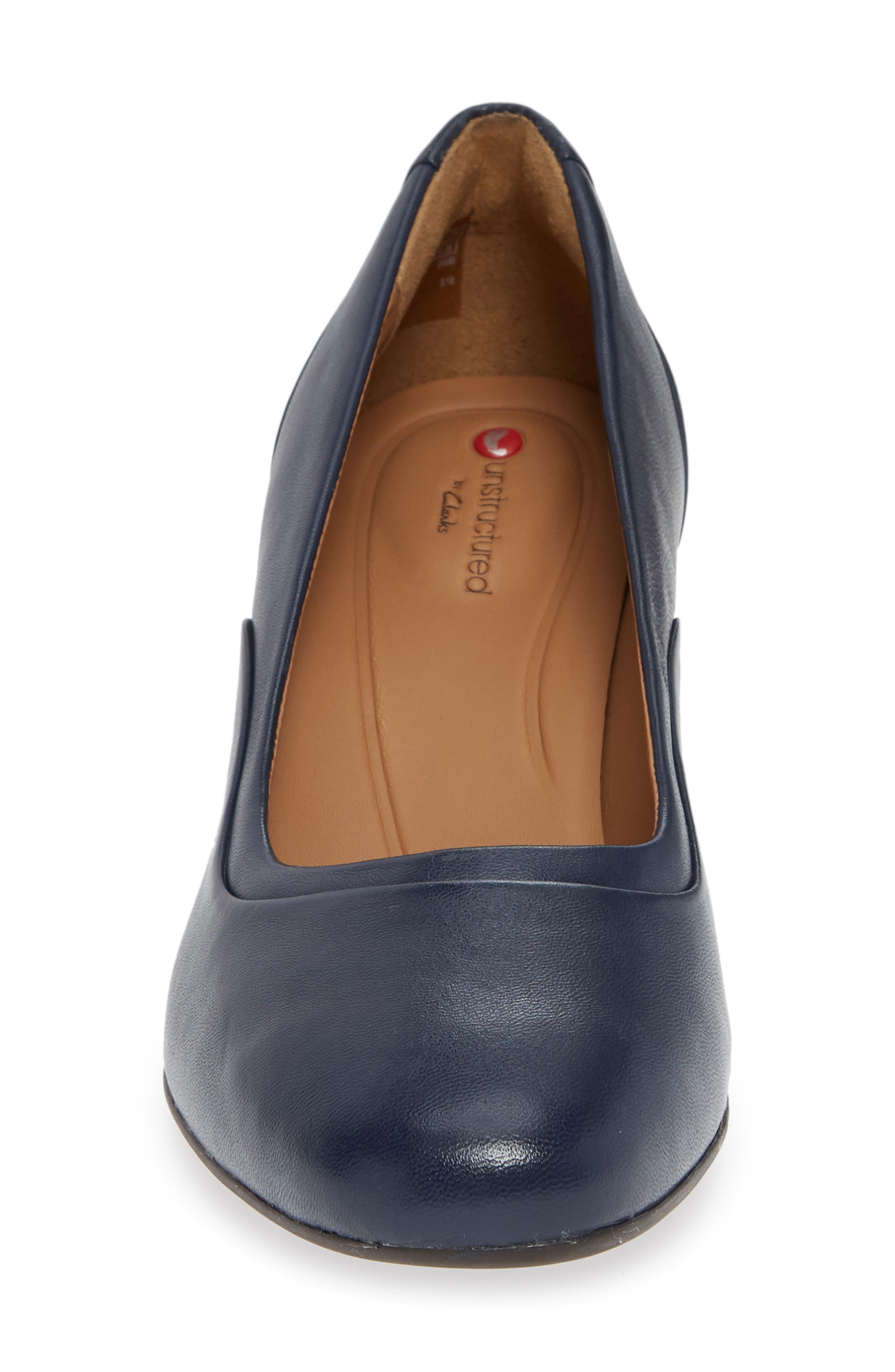 Un Cosmo Step Pump,                             Alternate thumbnail 4, color,                             Navy Leather