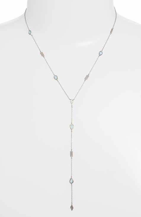 e5bada406 Anzie Cleo Geometric Shaped Y-Necklace