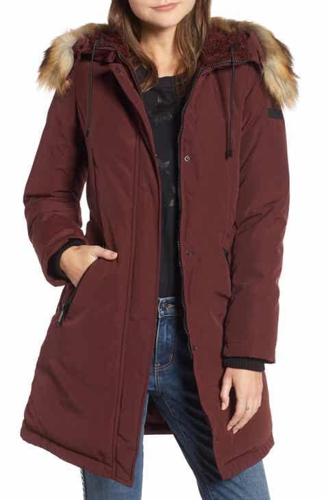 b4f68851685b Sam Edelman Faux Fur Trim Down Jacket