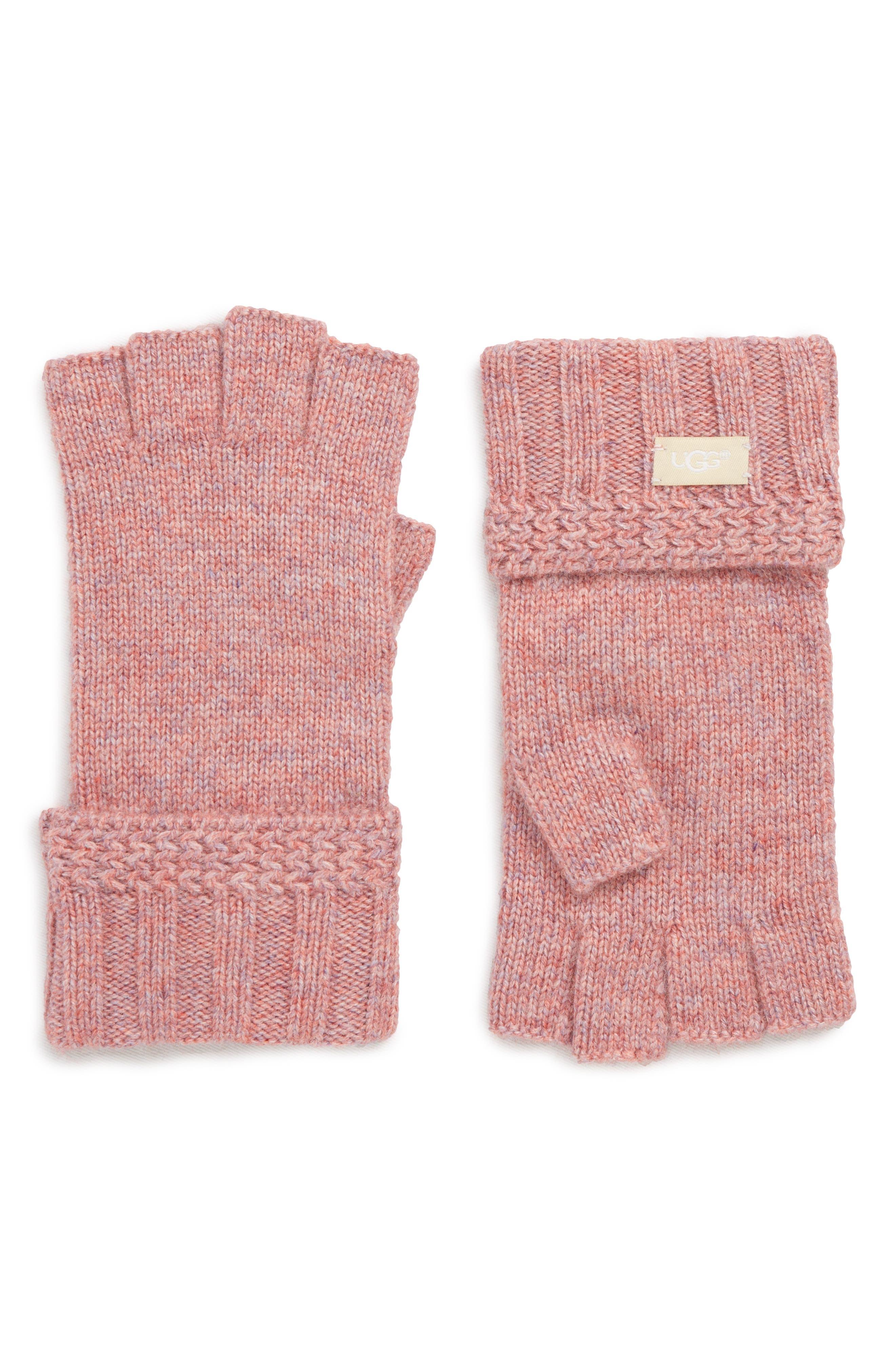 Knit Fingerless Gloves Nordstrom Hoodie Maroon