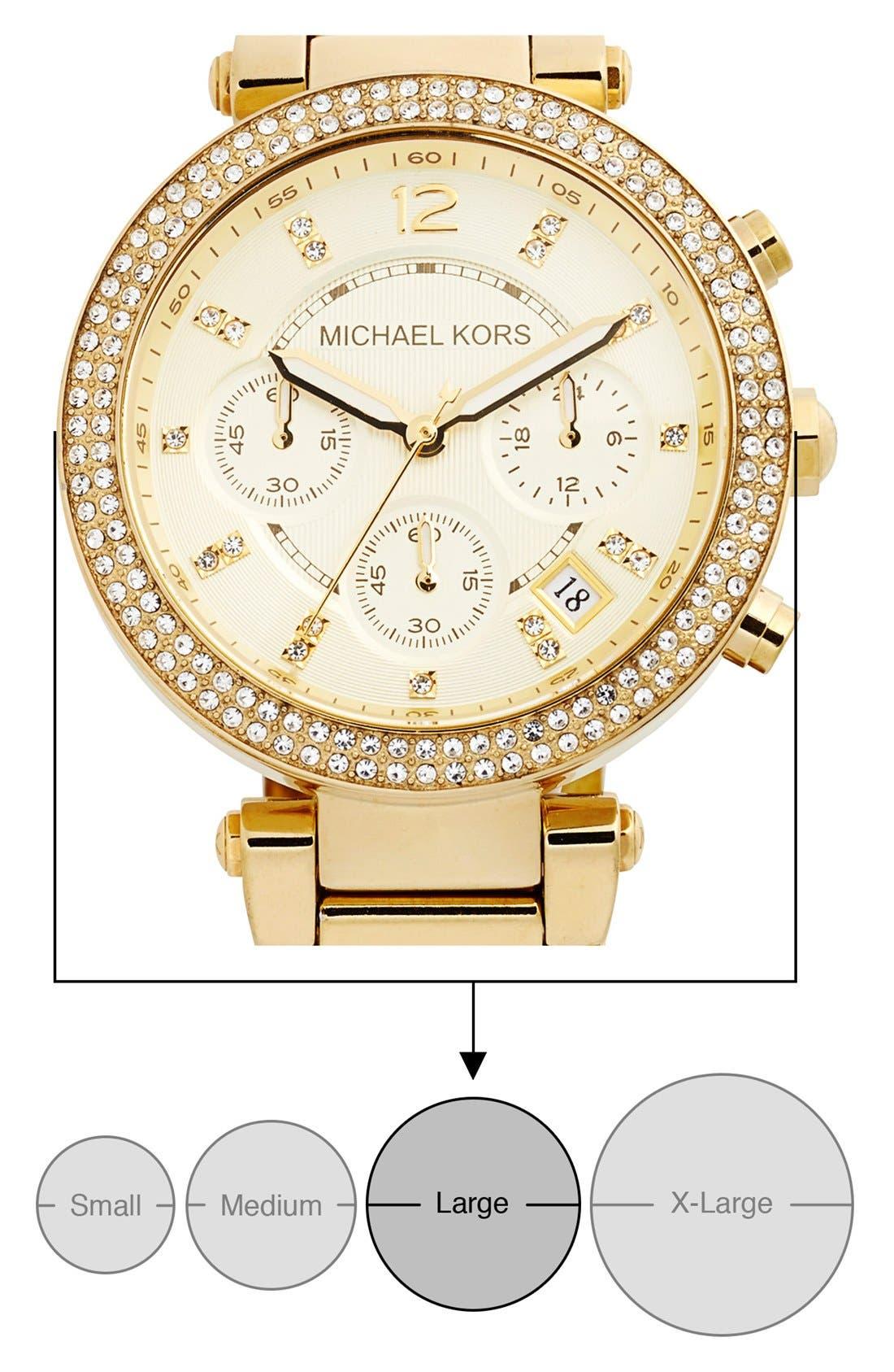 Michael Kors 'Parker' Chronograph Bracelet Watch, 39mm,                             Alternate thumbnail 7, color,                             Gold