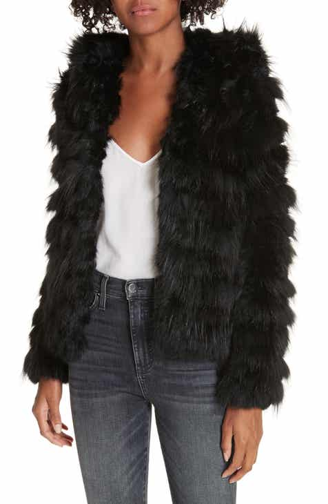 e0e41c2d3b26c Alice + Olivia Nadia Genuine Rabbit & Fox Fur Jacket
