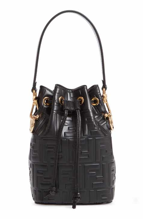 Fendi Mini Mon Tresor Logo Leather Bucket Bag 10553201ce479