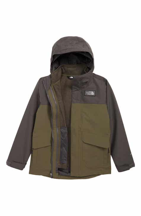 ec603a4a8103 The North Face Gordon Lyons TriClimate® Waterproof Hooded 3-in-1 Snowsports  Jacket (Big Boys)