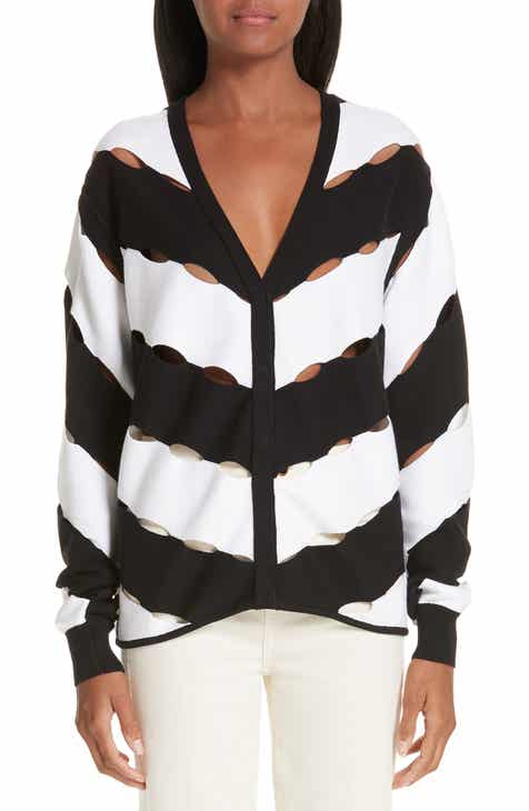 Milly Button Sleeve Sweater by MILLY
