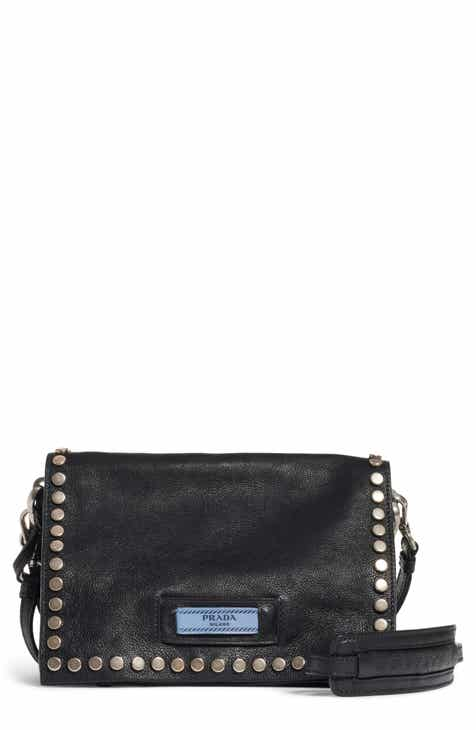 856e6c8cec3f Prada Small Stud Etiquette Shoulder Bag