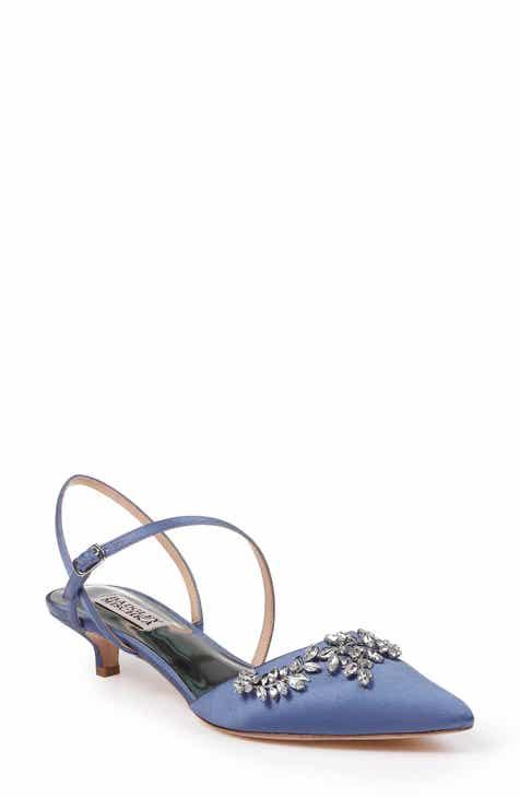 9da8eaf79530 Badgley Mischka Crystal Embellished Quarter Strap Pump (Women)