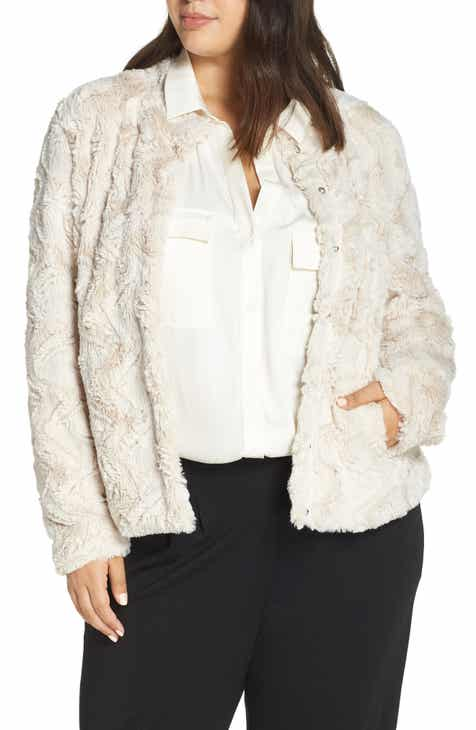 802b9cf27aeb Lemon Tart Blaire Faux Fur Jacket (Plus Size)