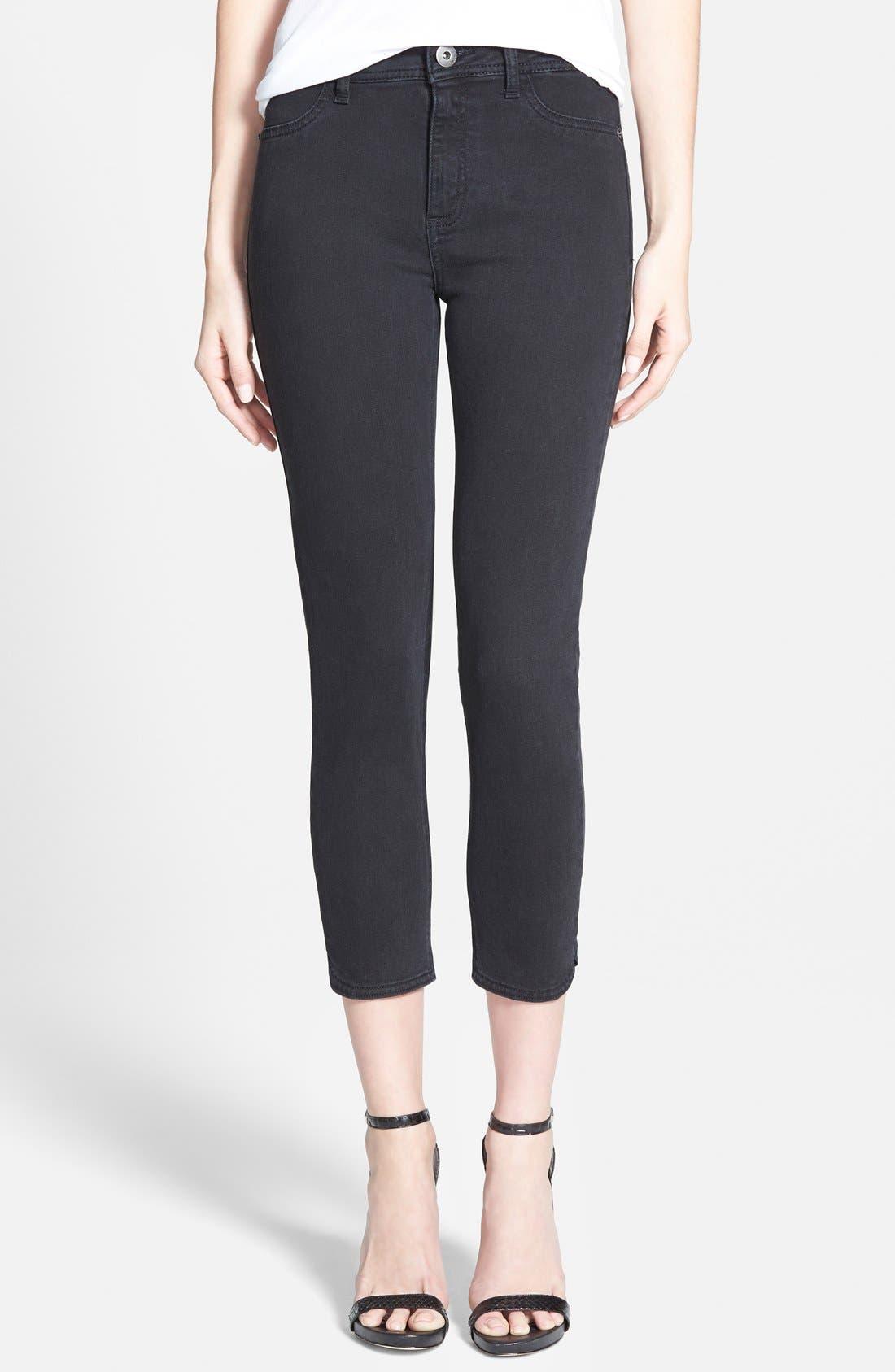 Main Image - DL1961 'Bardot' Crop Skinny Jeans (Rhett)
