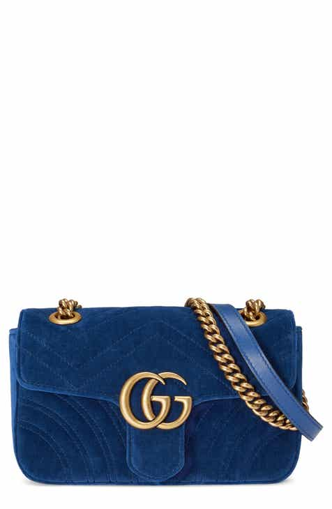 Gucci Small GG Marmont 2.0 Matelassé Velvet Shoulder Bag 35487726fa168