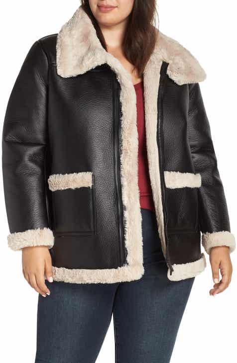 74e98bfb23ec5 Women s Faux Shearling Plus-Size Coats   Jackets