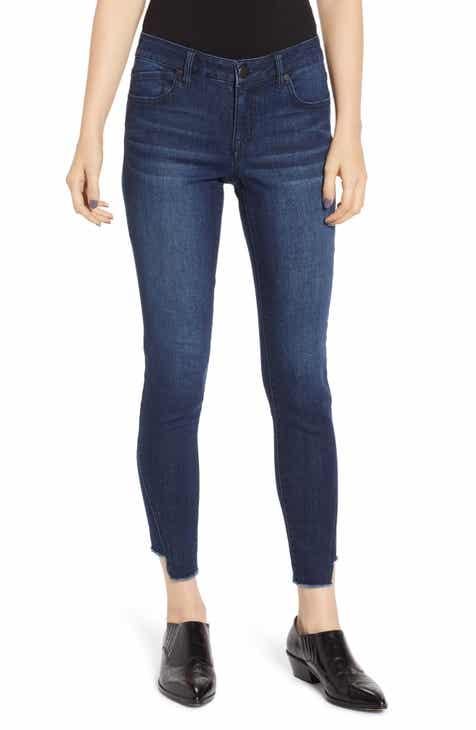 1822 Denim Cutoff Raw Hem Skinny Jeans (Marco)