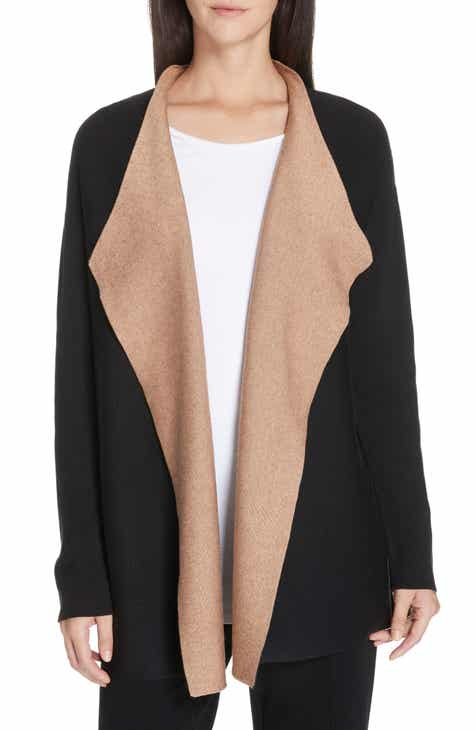 d3c10c8cf7 Eileen Fisher Reversible Silk Blend Cardigan (Regular