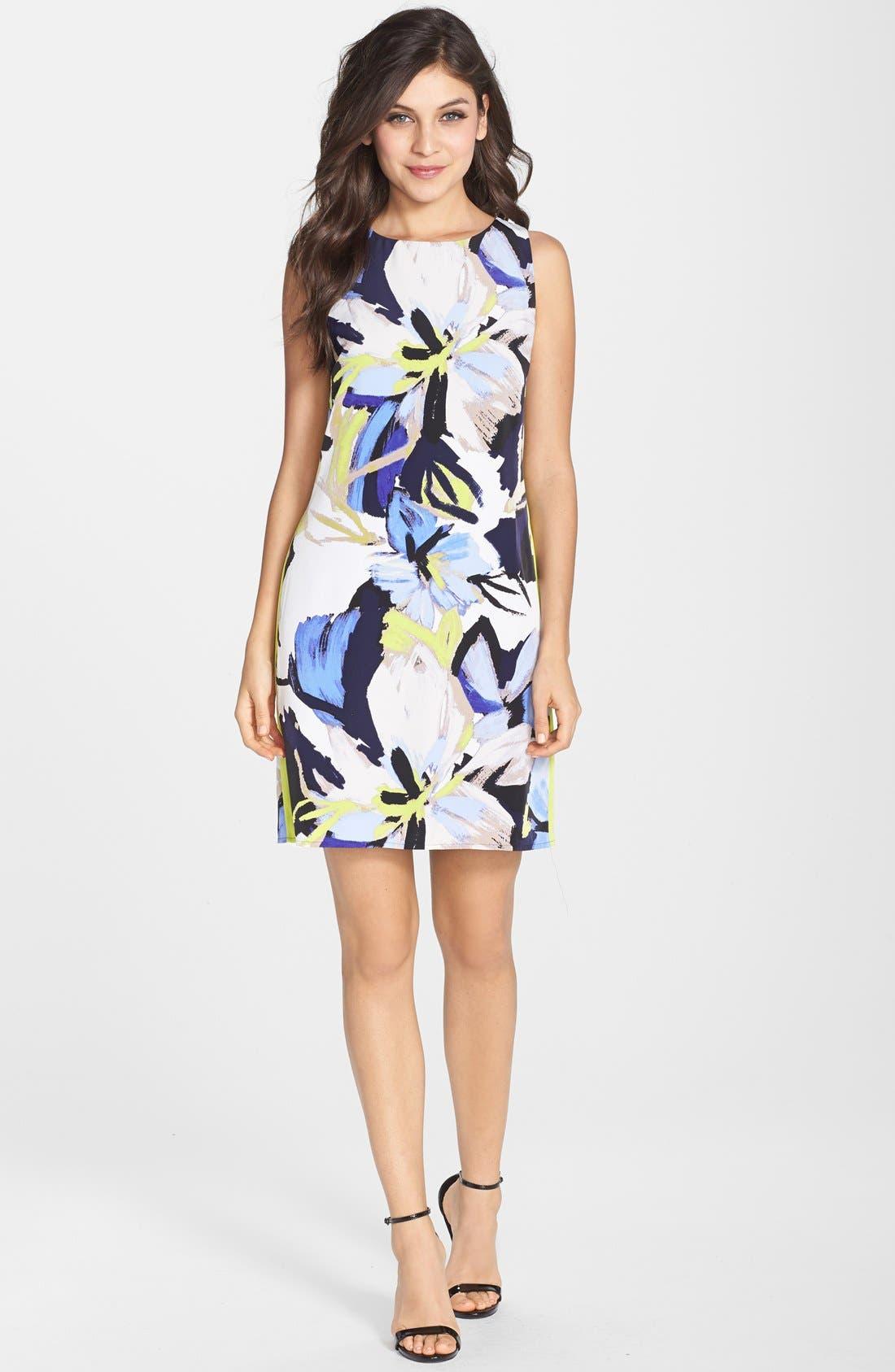 Alternate Image 3  - Vince Camuto Floral Print Shift Dress