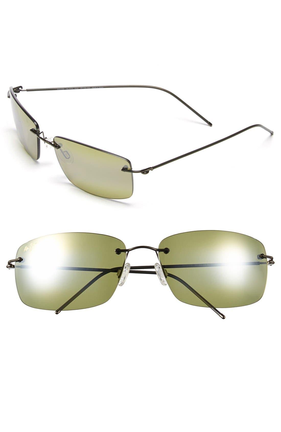 'Frigate - PolarizedPlus<sup>®</sup>2' 65mm Polarized Sunglasses,                             Main thumbnail 1, color,                             Dark Gunmetal/ Maui Ht