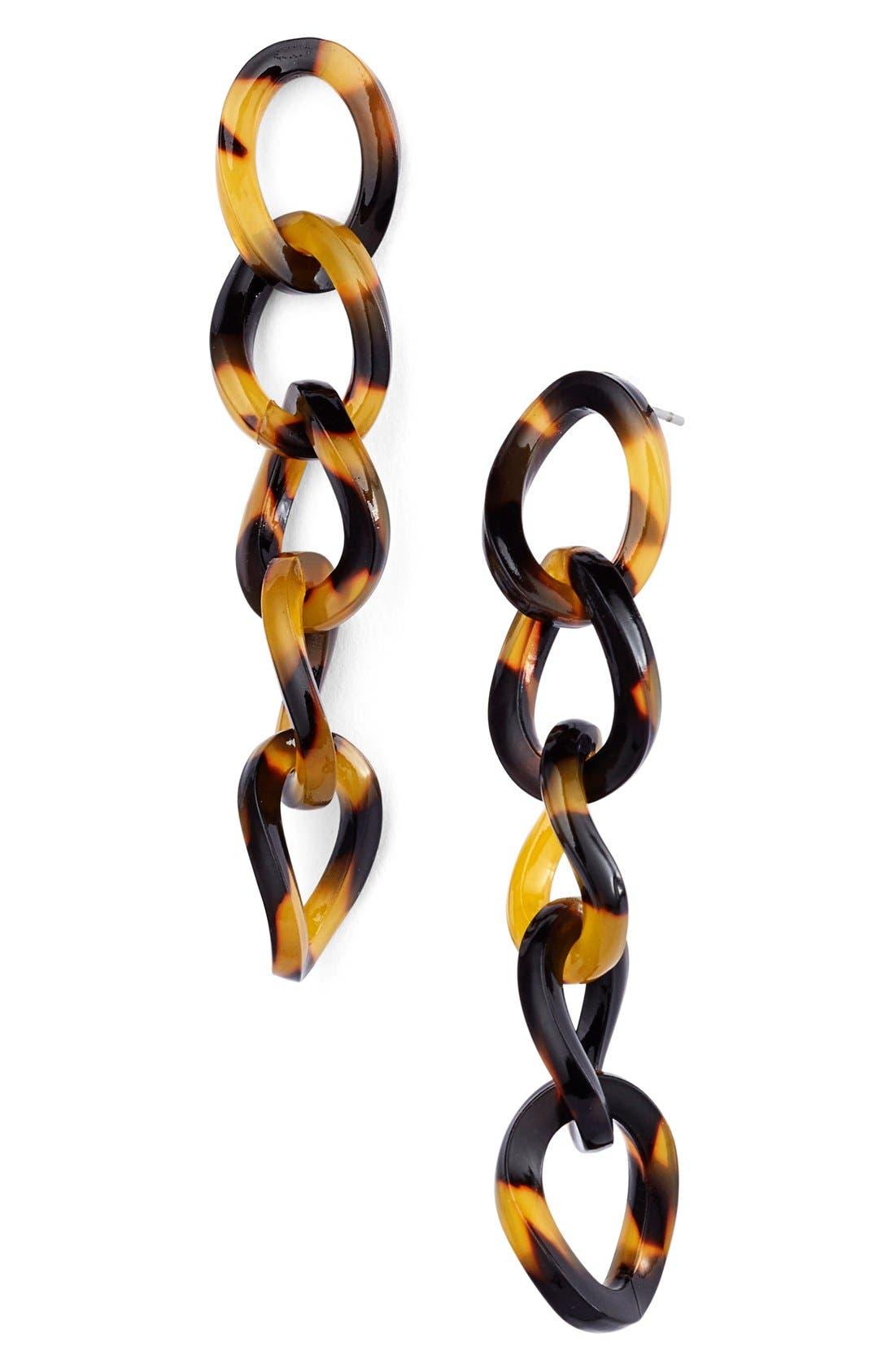 L. ERICKSON Linear Link Drop Earrings