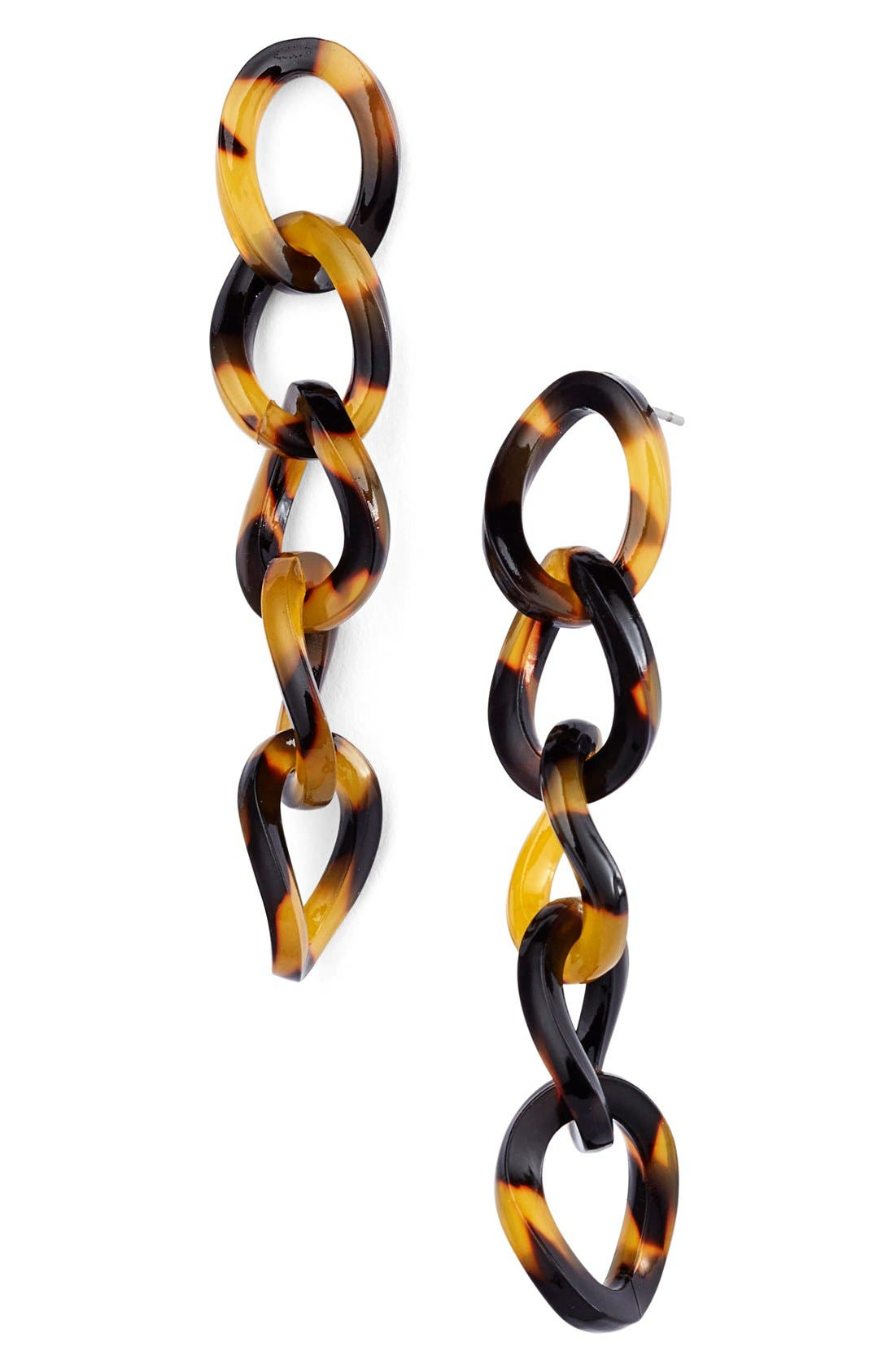 L. Erickson 'Linear' Link Drop Earrings